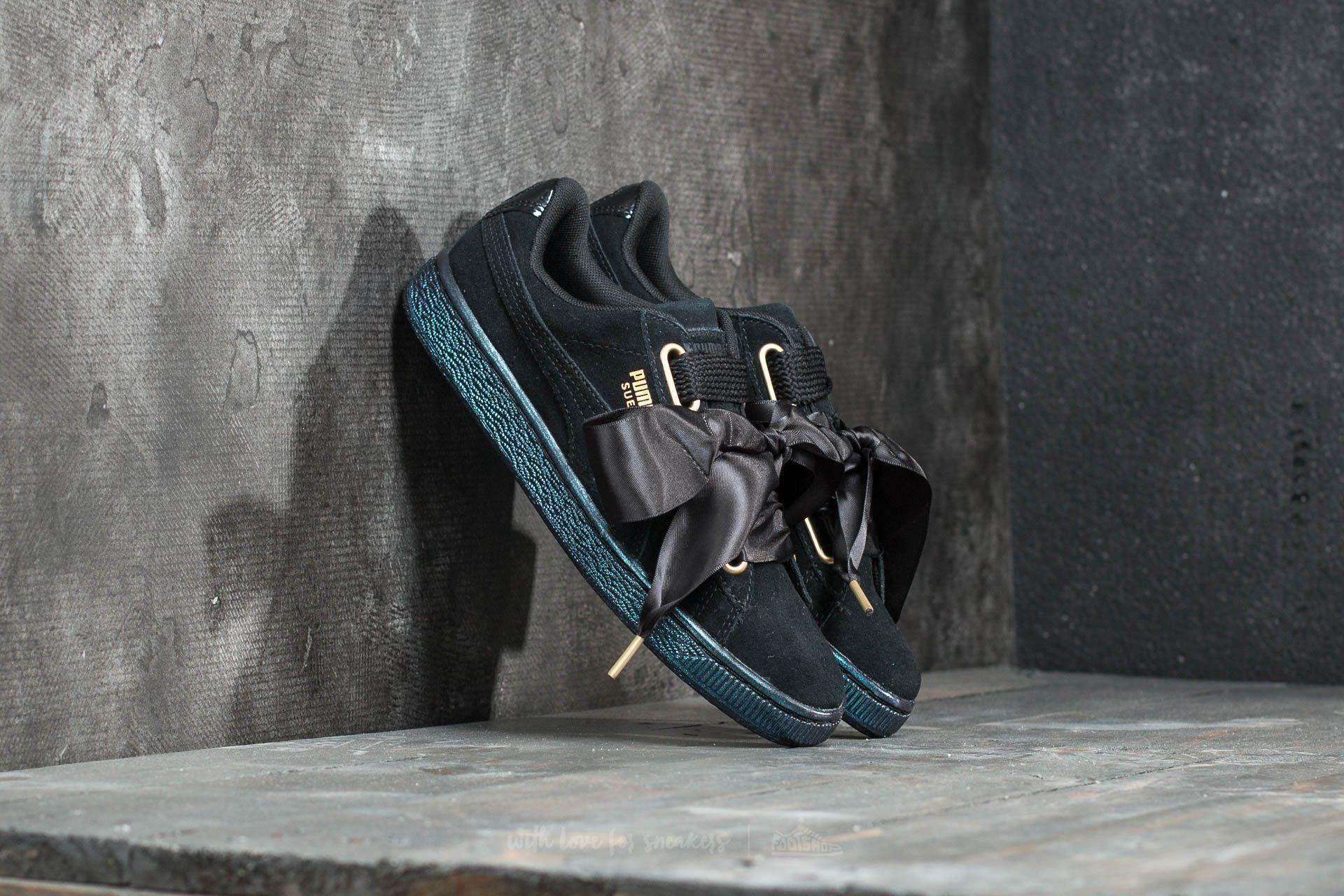 Puma Suede Heart Satin Women's Puma Black Puma Black | Footshop