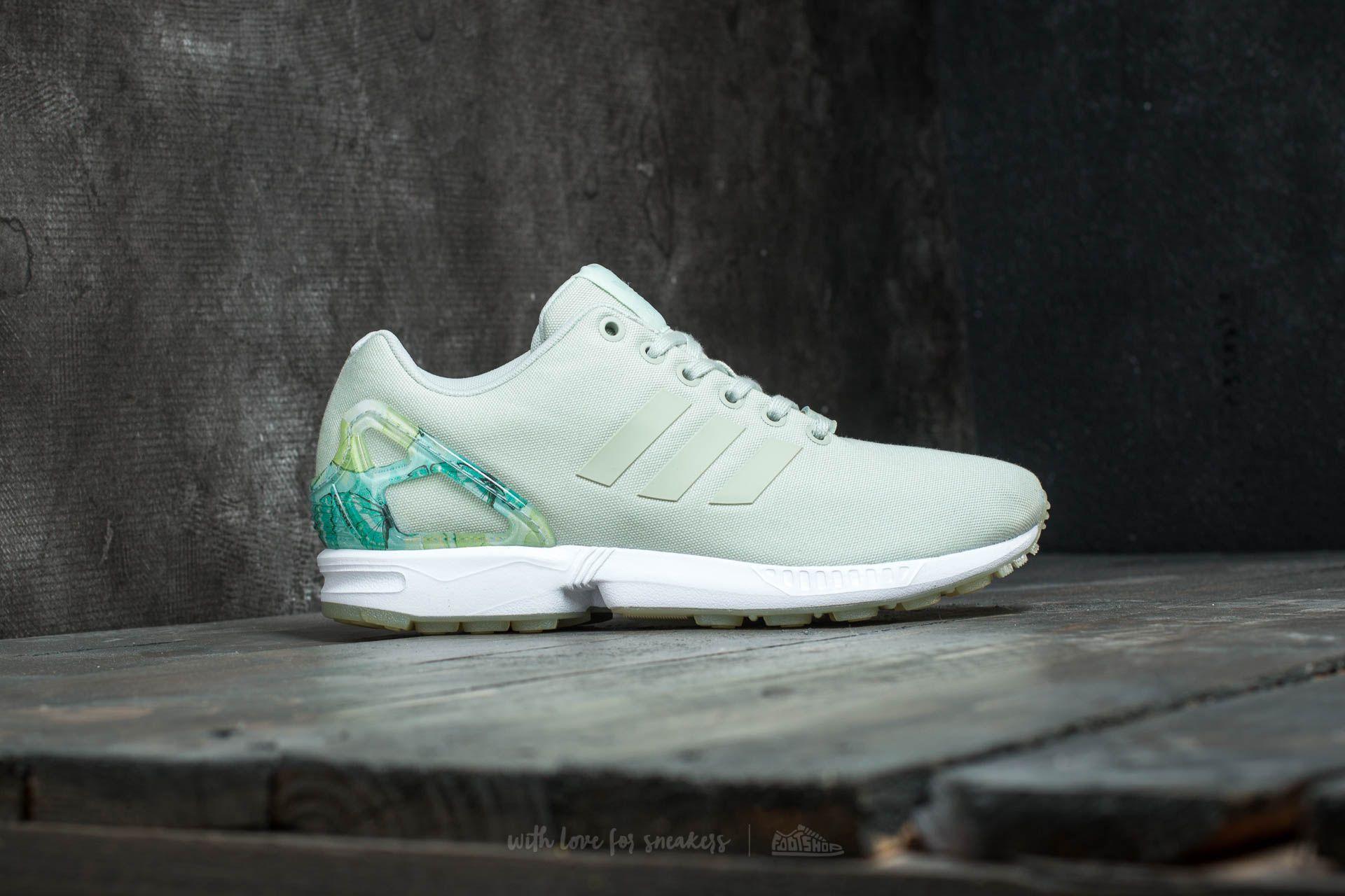 adidas ZX Flux W Linen Green Linen Green Ftw White | Footshop