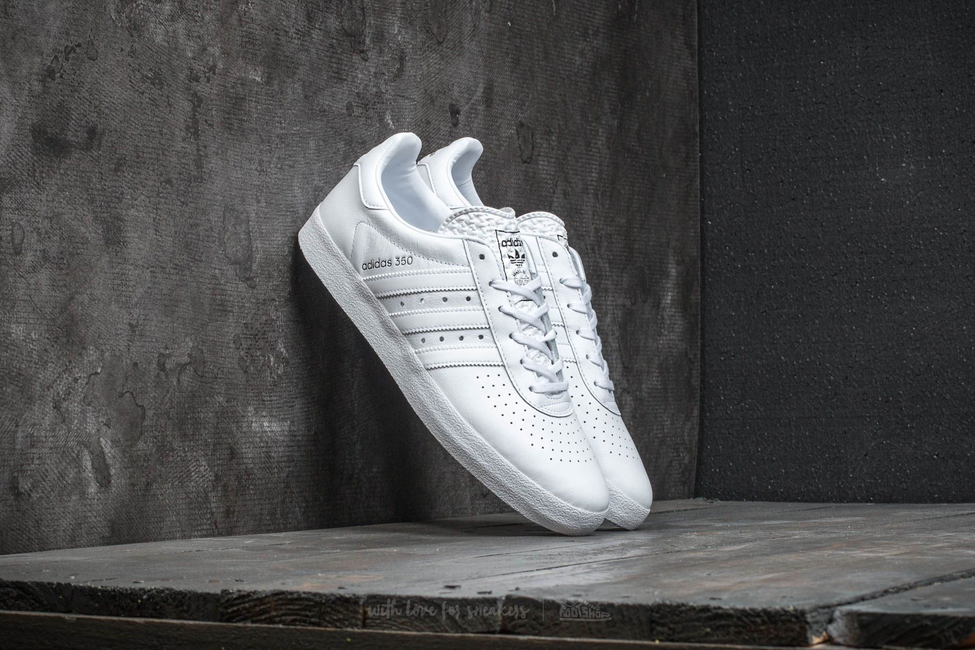 new style a4f69 27323 adidas 350 Ftw White/ Ftw White/ Core Black | Footshop