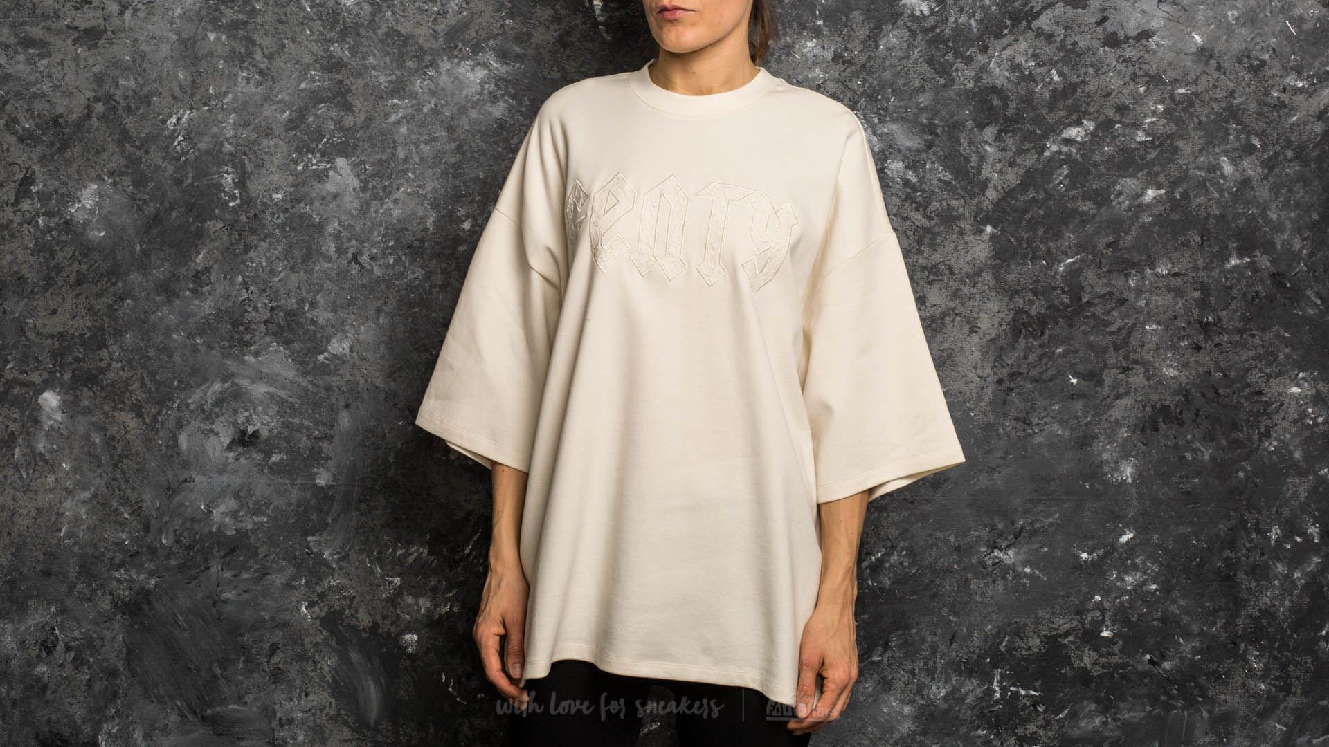 sale retailer 23b65 ae36f Puma Fenty x Rihanna Oversized Crewneck T-Shirt Vanilla Ice ...