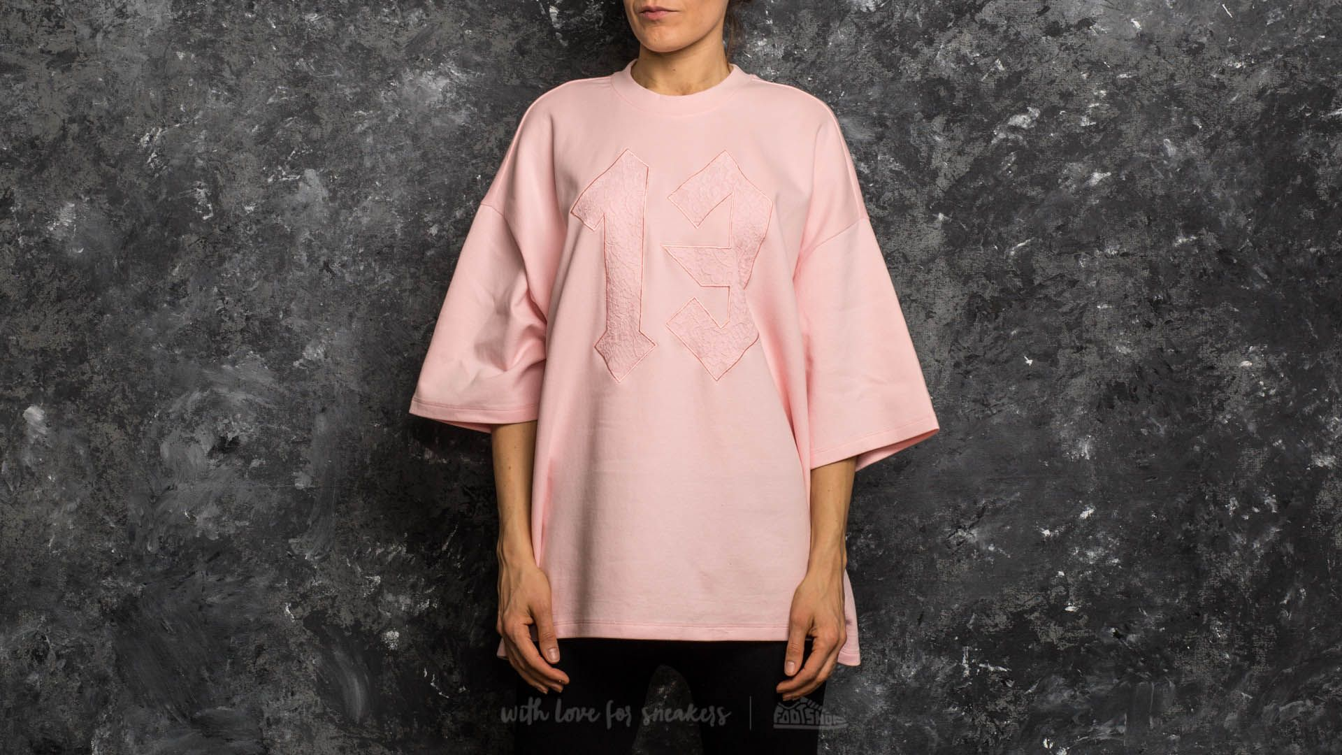 Puma Fenty x Rihanna Oversized Crewneck T-Shirt Crystal Rose ... 0350e340f