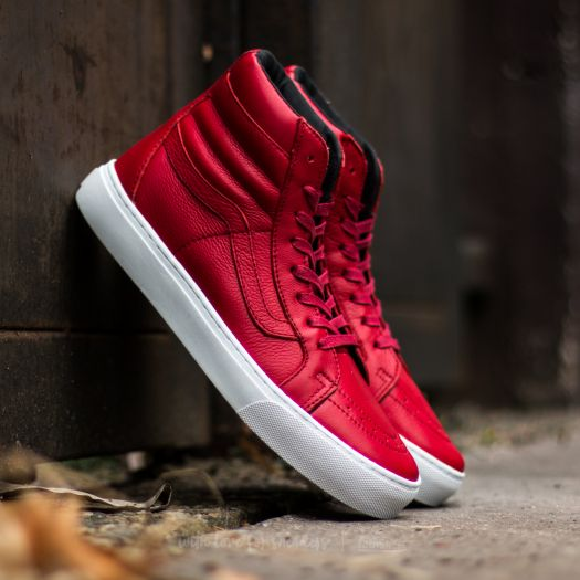 Men's shoes Vans Sk8-Hi Cup (Leather) Red