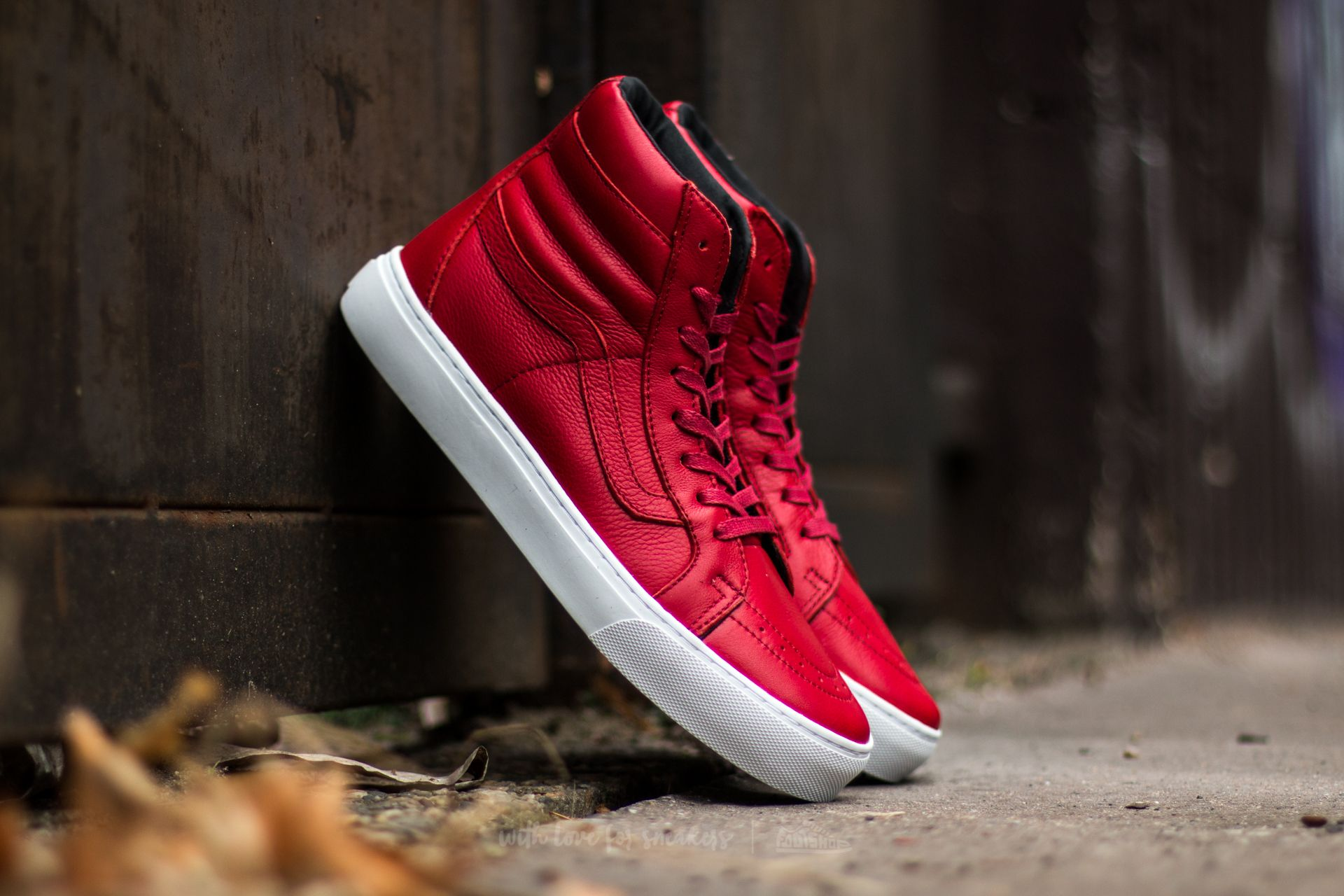 209091da3c6 Vans Sk8-Hi Cup (Leather) Red