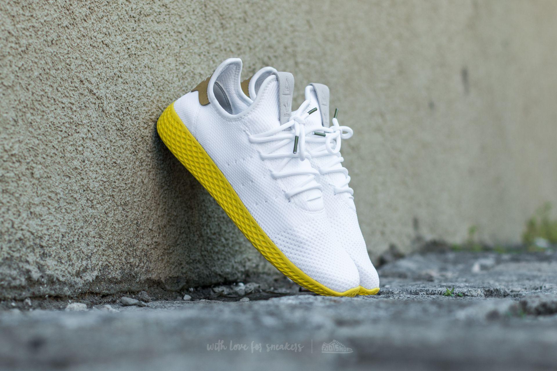 da3581142ff68 adidas x Pharrell Williams Tennis HU Ftw White  Ftw White  Yellow ...