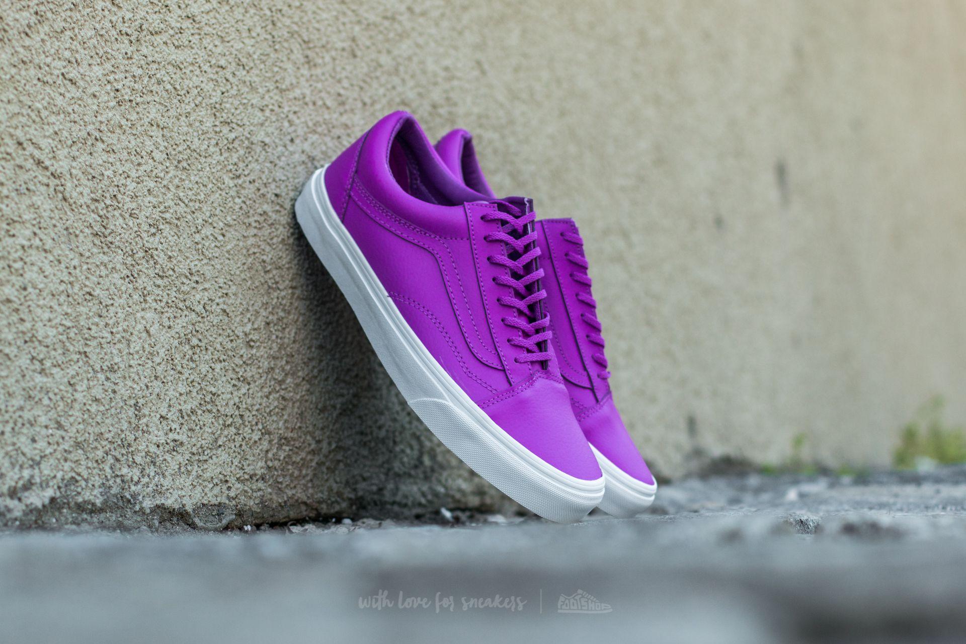 f07c740f3a7 Vans Old Skool (Neon Leather) Neon Purple