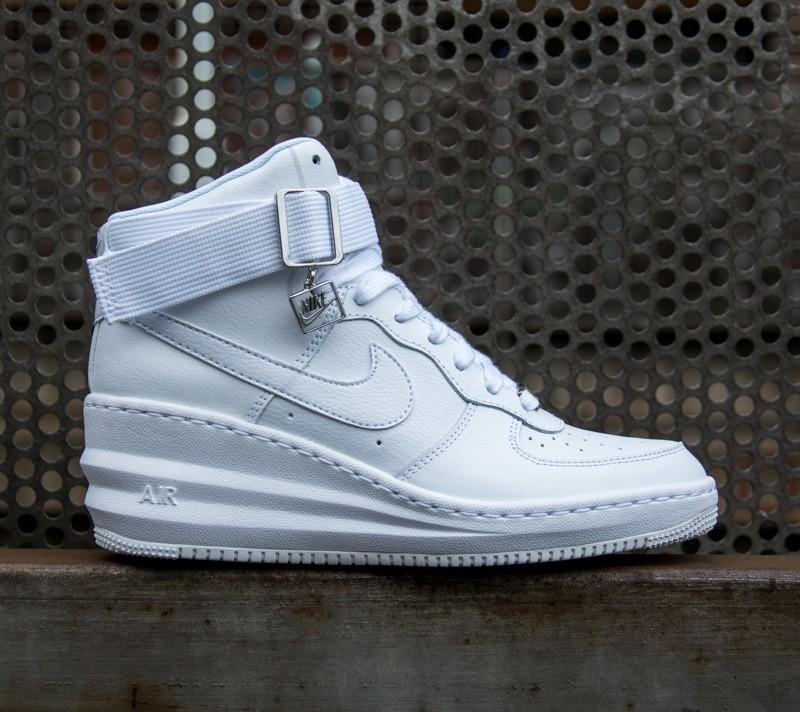 pretty nice a22d3 fcd48 Nike Wmns Lunar Force 1 Sky Hi WhiteWhite-Metallic silver