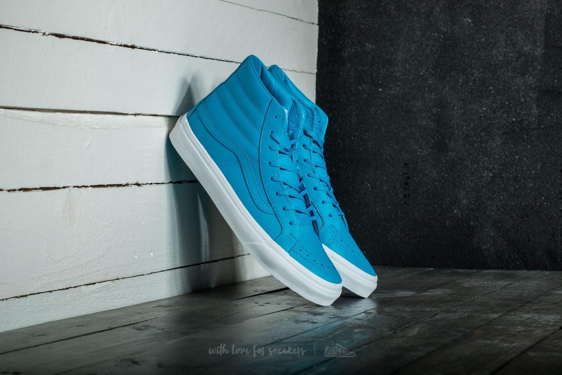 78e03e6eb6c4a6 Vans Sk8-Hi Slim (Neon Leather) Neon Blue