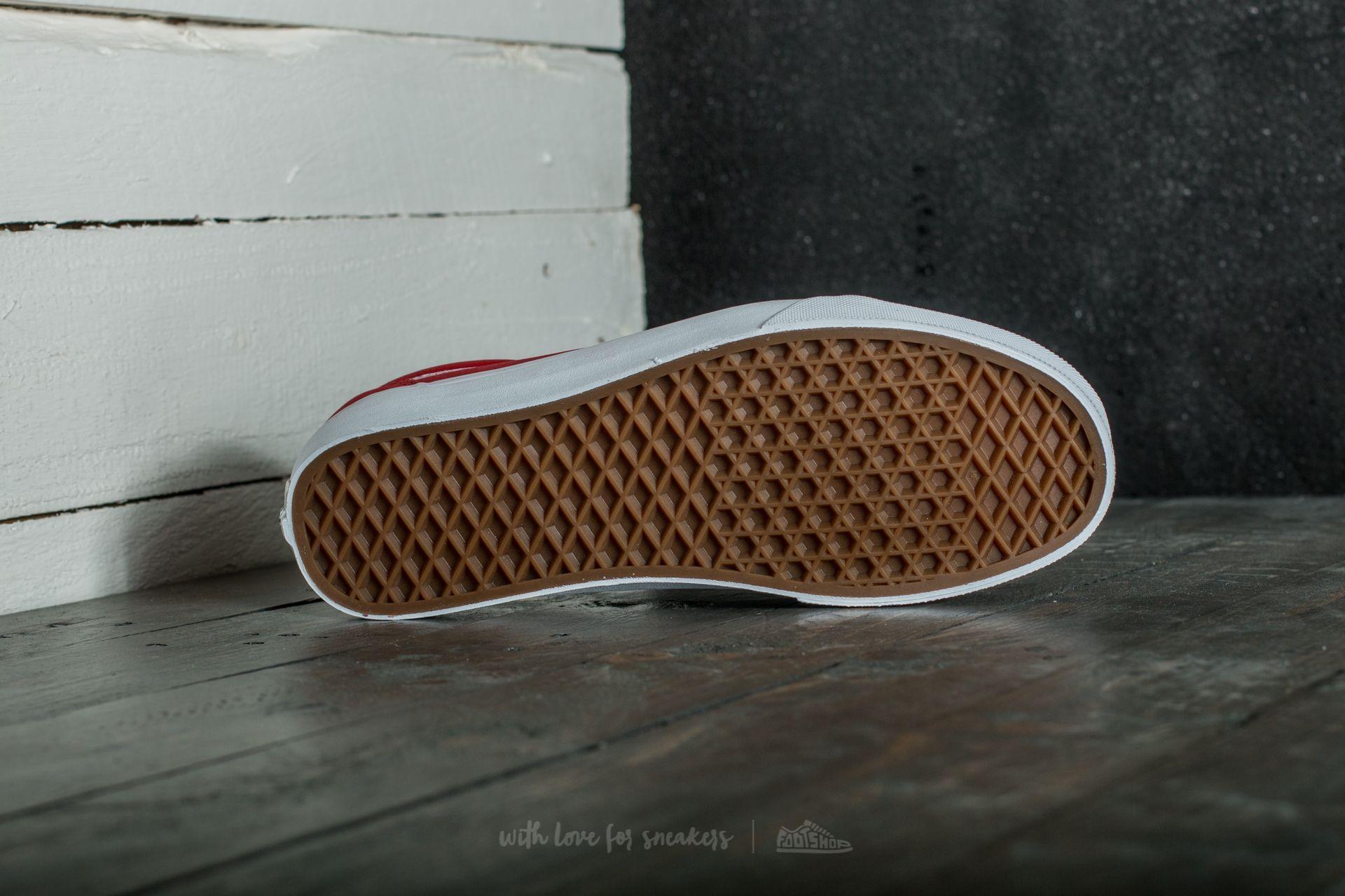 Vans Old Skool (Premium Leather) Racing Red True White | Footshop