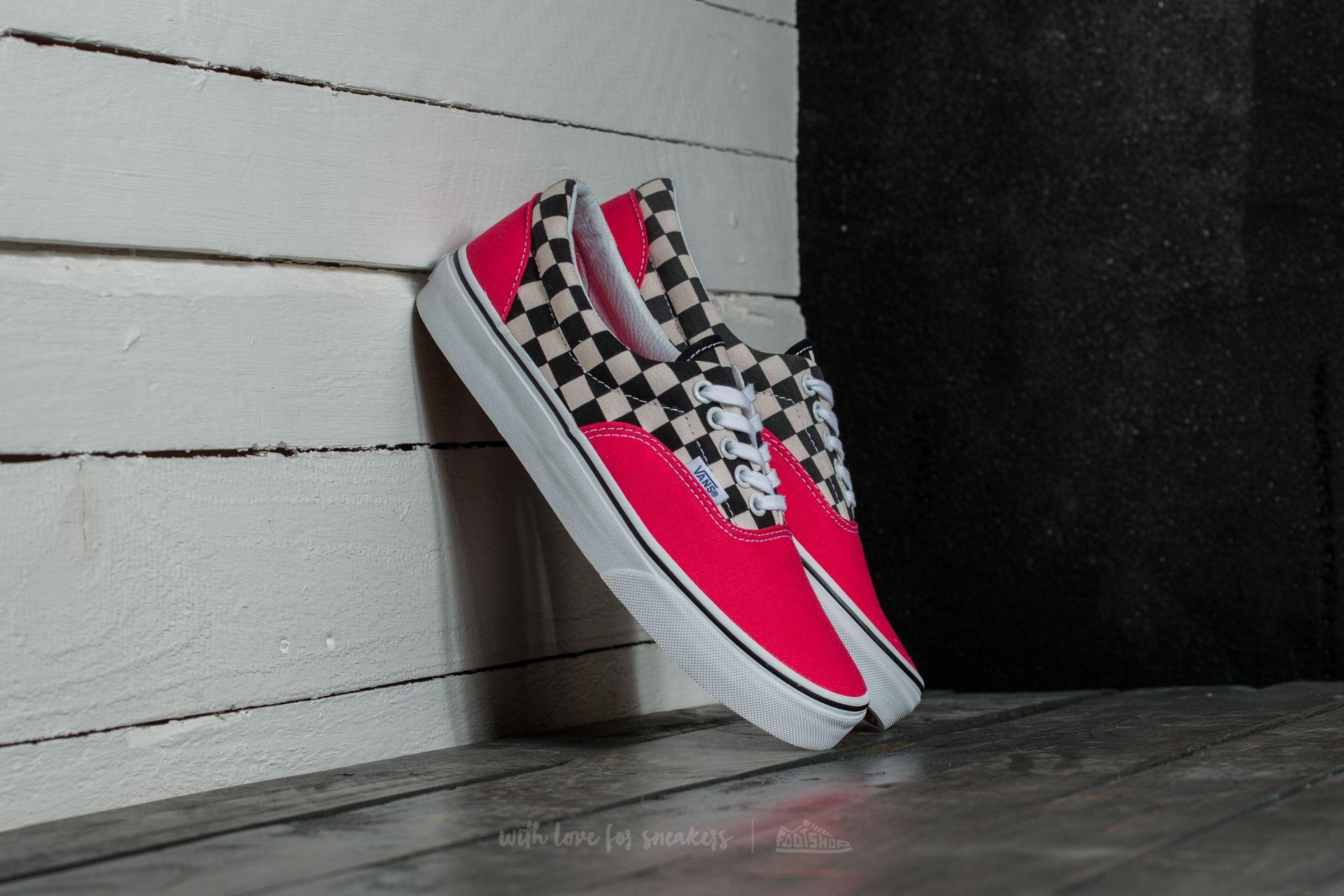 Vans Era (2-Tone Check) Rouge Red  True White  85654f52c