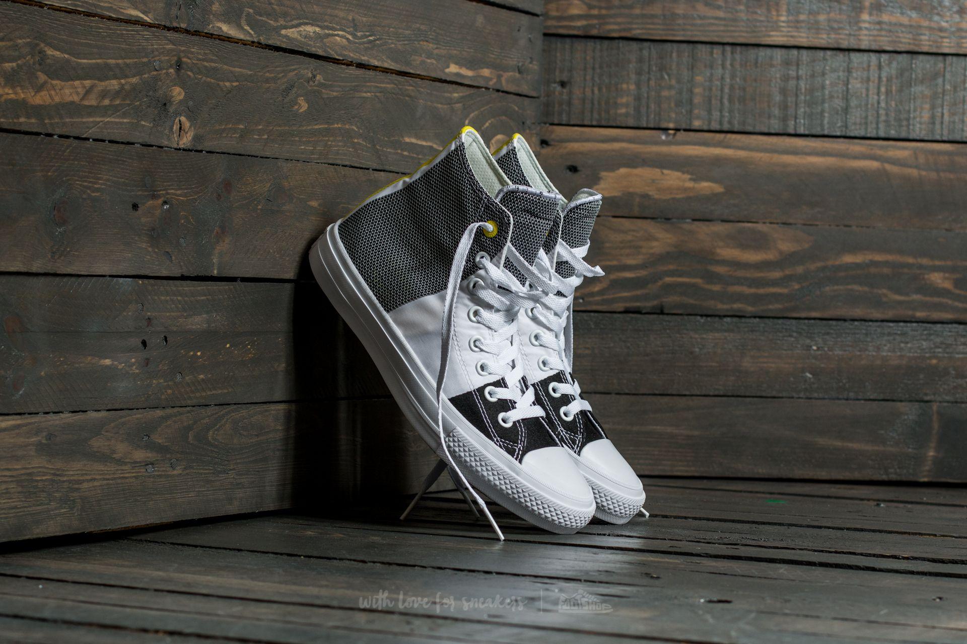 9e3f0e550e27 Converse Chuck Taylor All Star II Hi White  Black  Fresh Yellow ...