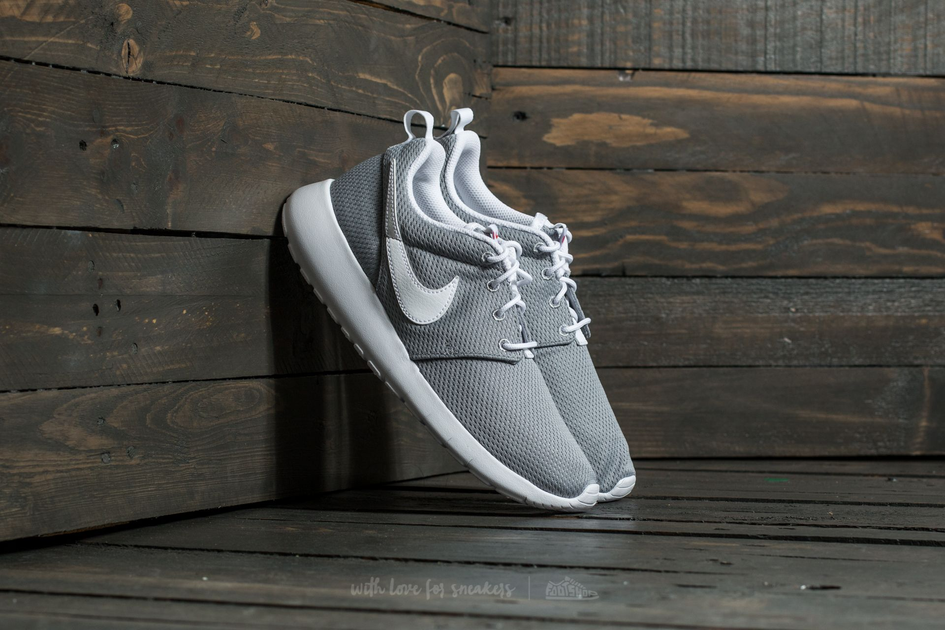 0ac323ac0bc Nike Roshe One (GS) Wolf Grey/ White-Safety Orange | Footshop