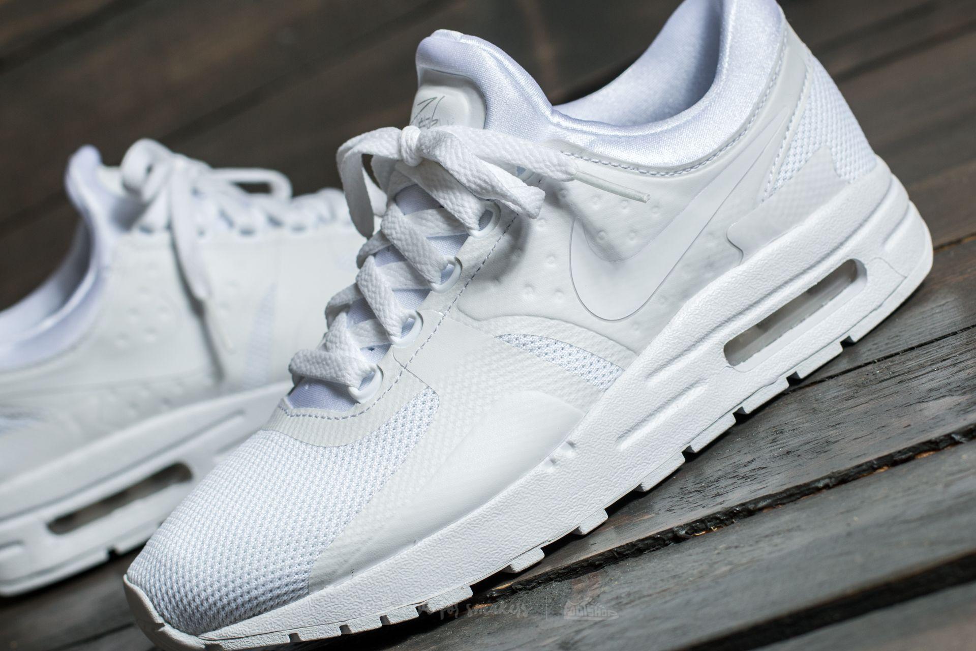 69f6ec8c4fc9b Nike Air Max Zero Essential GS White  White-Wolf Grey au meilleur prix 106