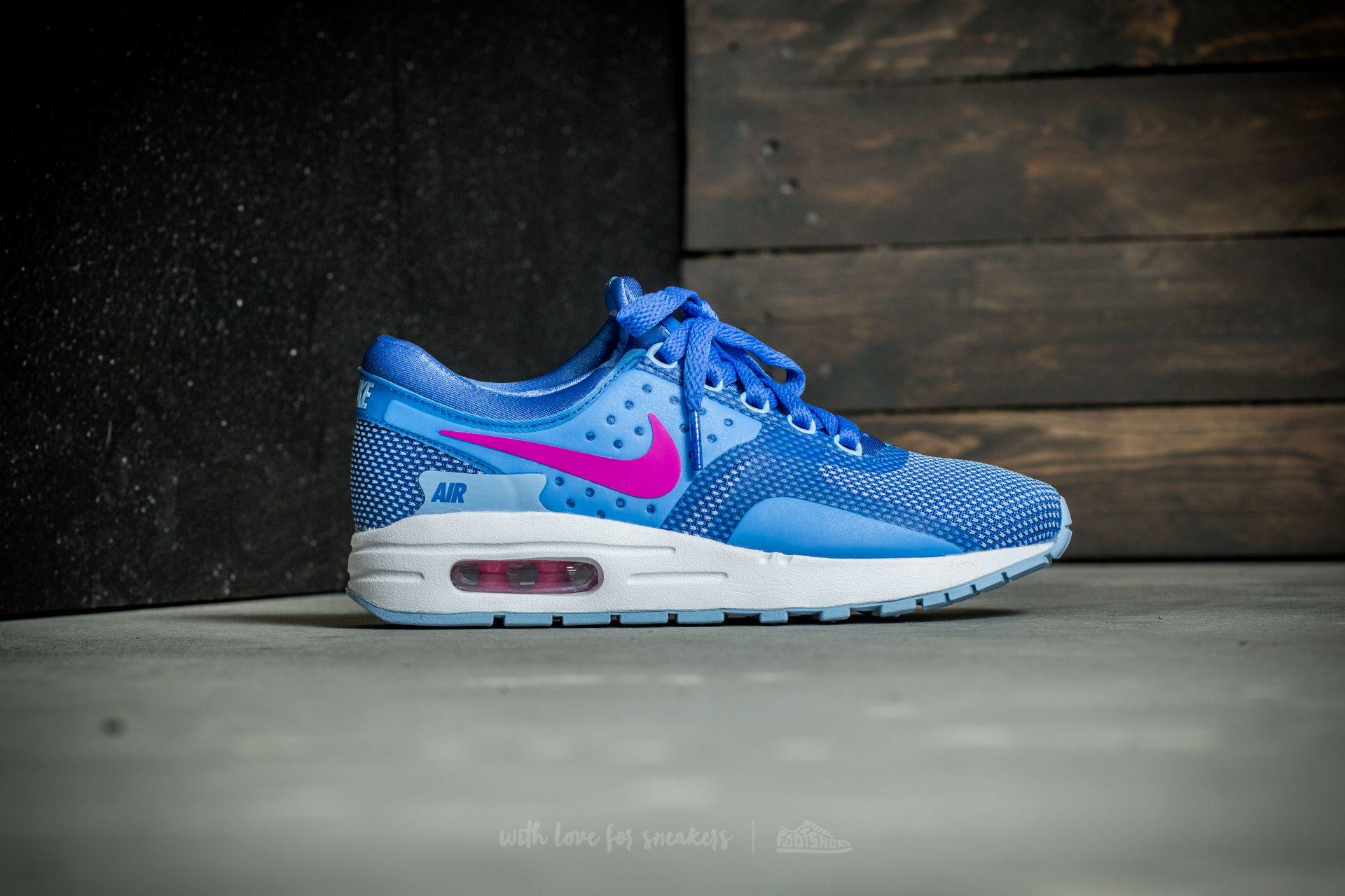 Nike Air Max Zero Essential (GS) Comet Blue Fire Pink White