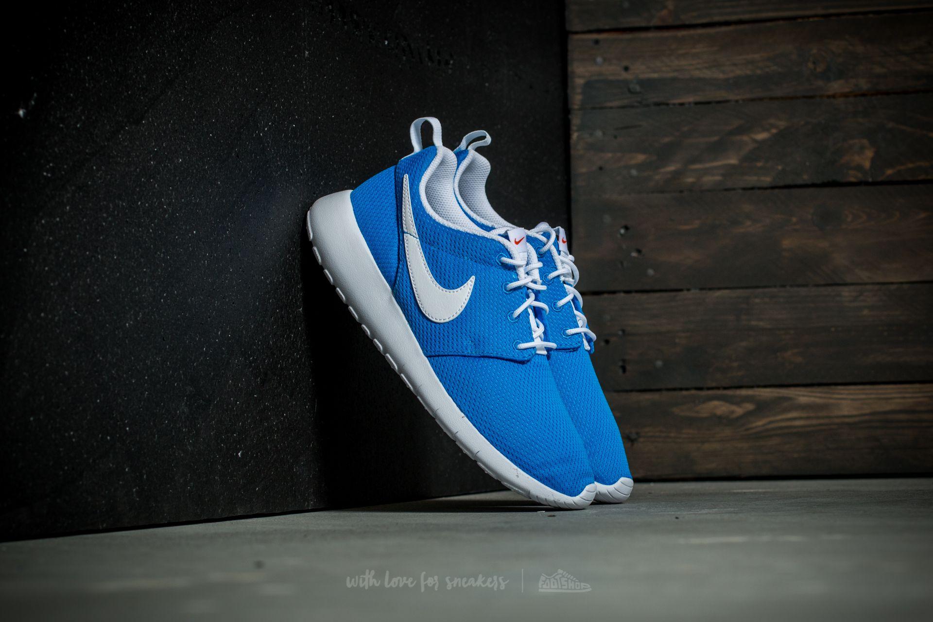 Nike Roshe One (GS) Photo Blue  White-Safety Orange  2dcec5a1d7d4