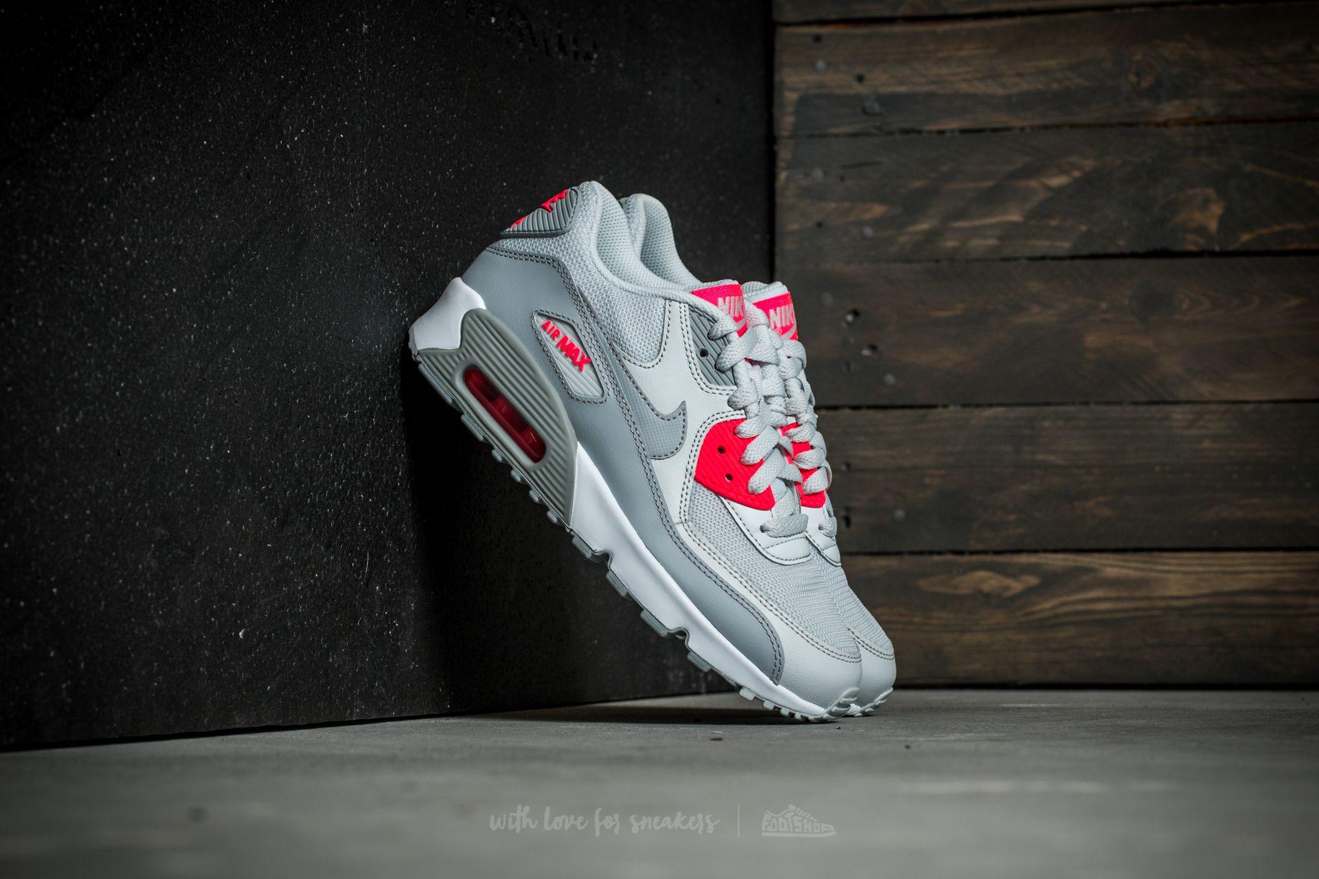 online retailer 80994 1e8d8 Nike Air Max 90 Mesh (GS). Pure Platinum Wolf Grey