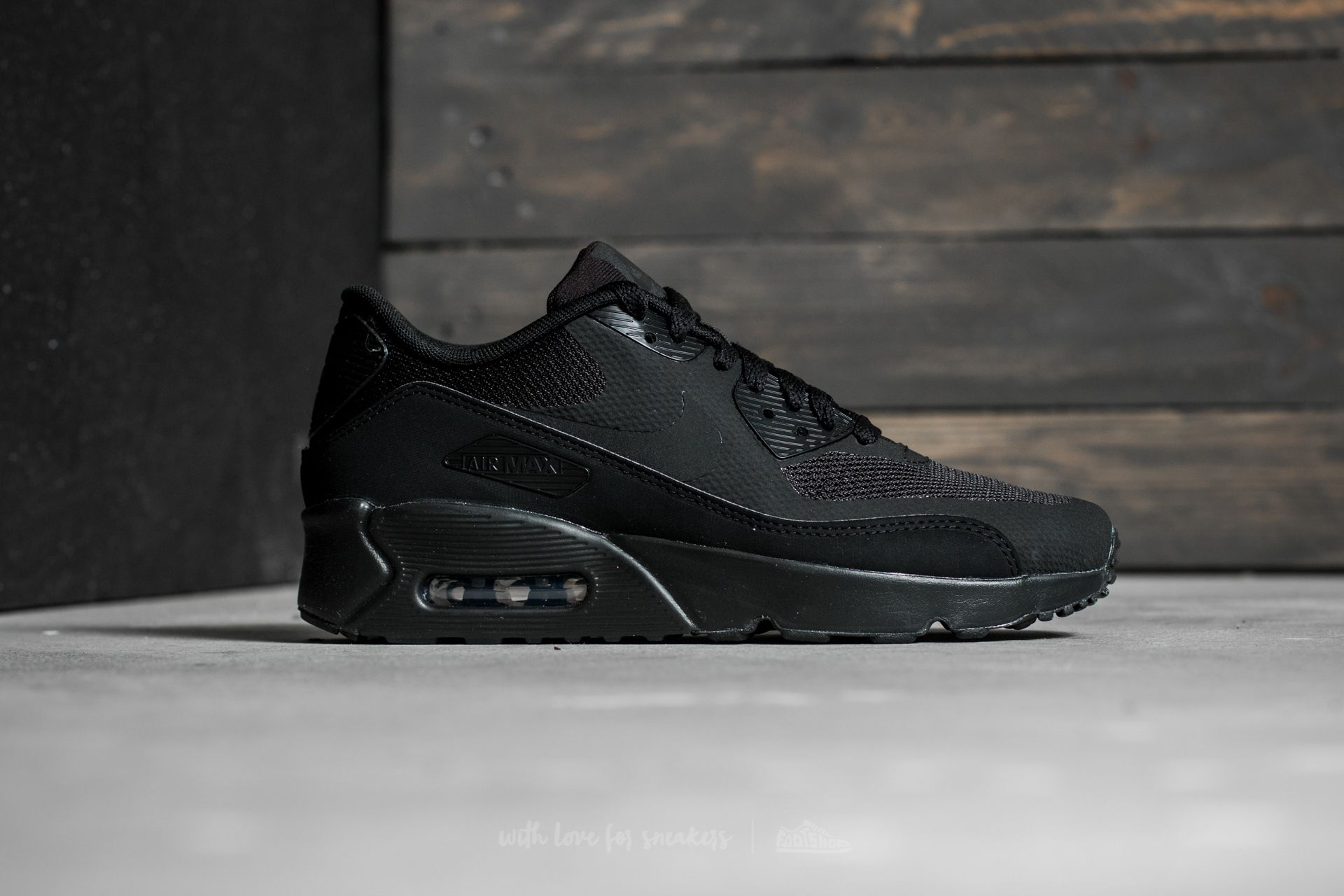 factory authentic 4c8a8 c85b8 Nike Air Max 90 Ultra 2.0 (GS) Black/ Black-Black | Footshop