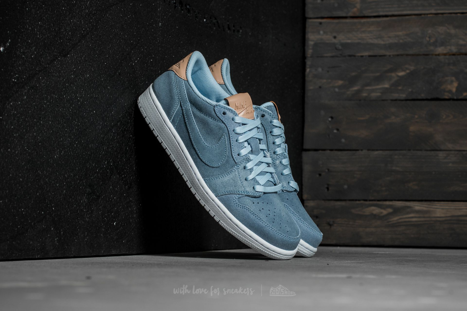 3ea612ce2afece Air Jordan 1 Retro Low OG Premium Ice Blue  Vachetta Tan-White ...
