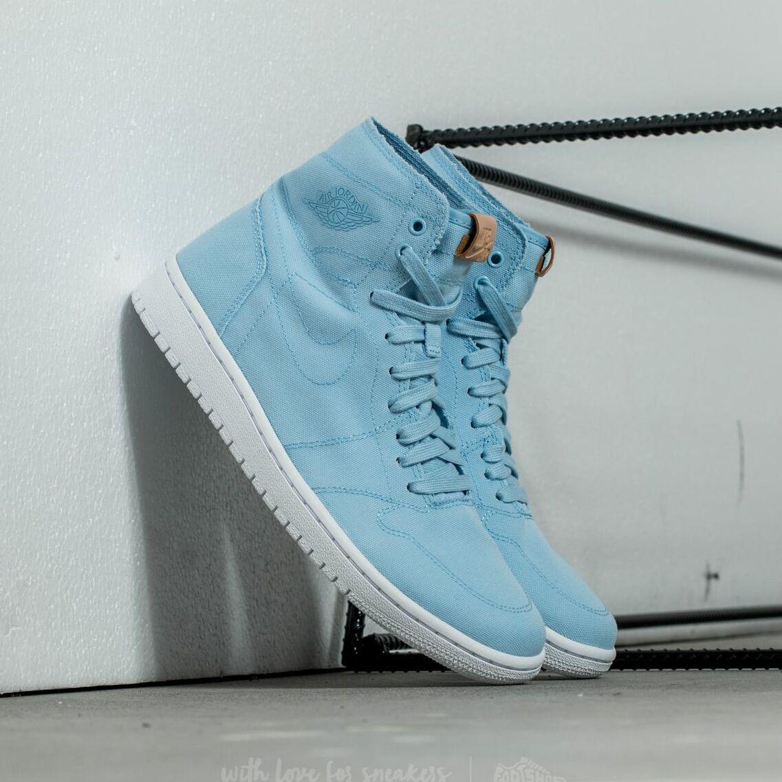Air Jordan 1 Retro High Decon Ice Blue/ White-Vachetta Tan EUR 45.5