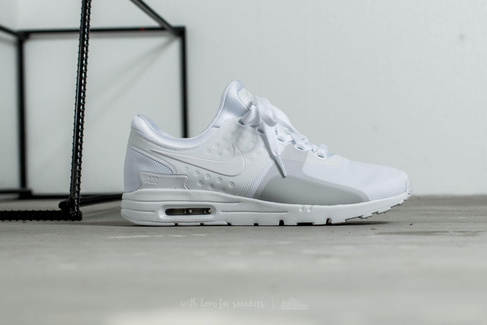 Nike W Air Max Zero White White Pure Platinum | Footshop
