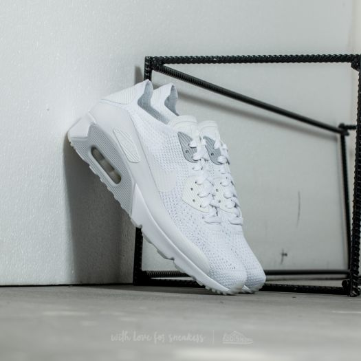 finest selection 81855 b7fe4 Nike Air Max 90 Ultra 2.0 Flyknit White/ White-Pure Platinum ...