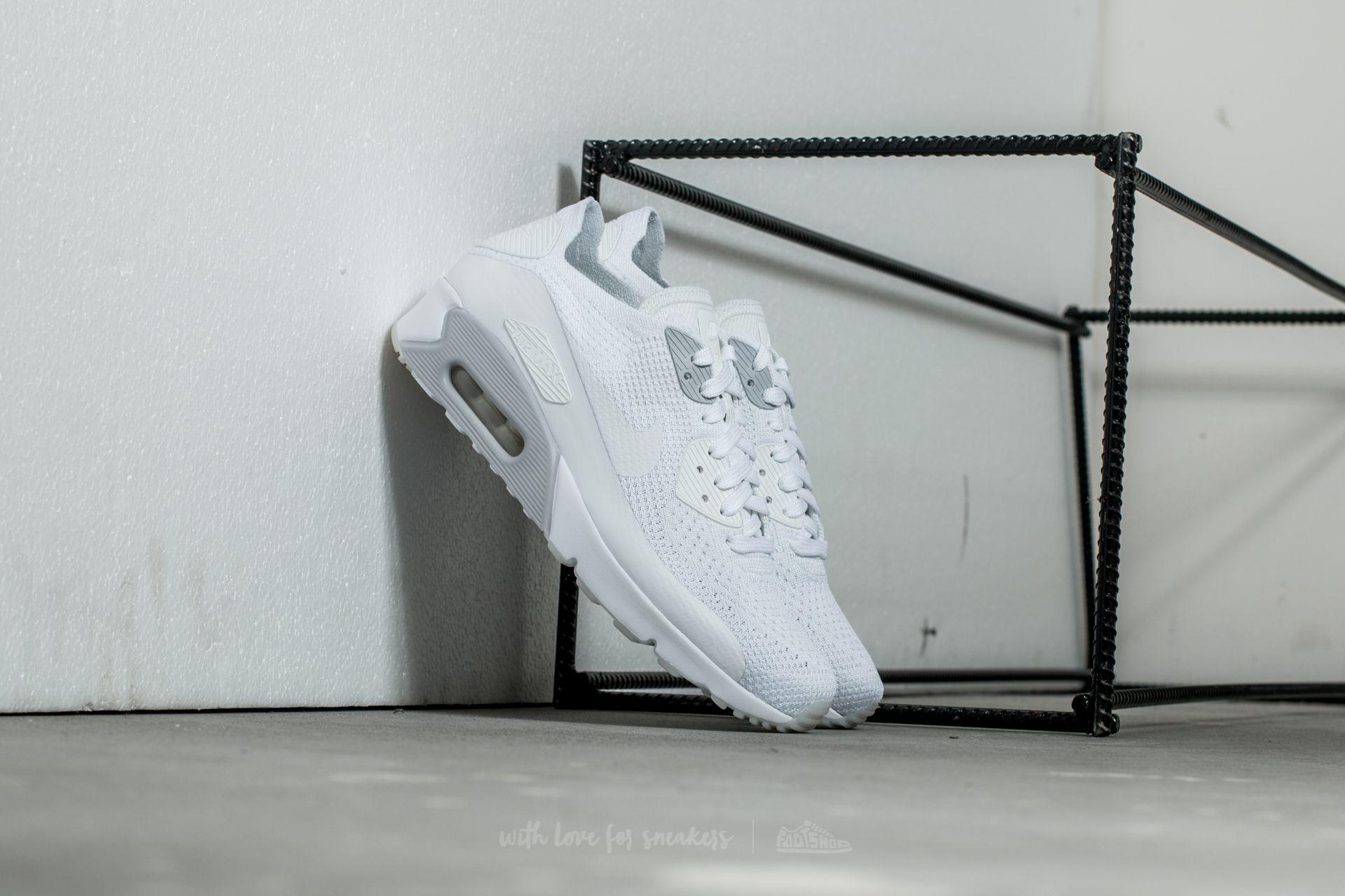 Nike Air Max 90 Ultra 2.0 Flyknit White  White-Pure Platinum  b84a662b3105