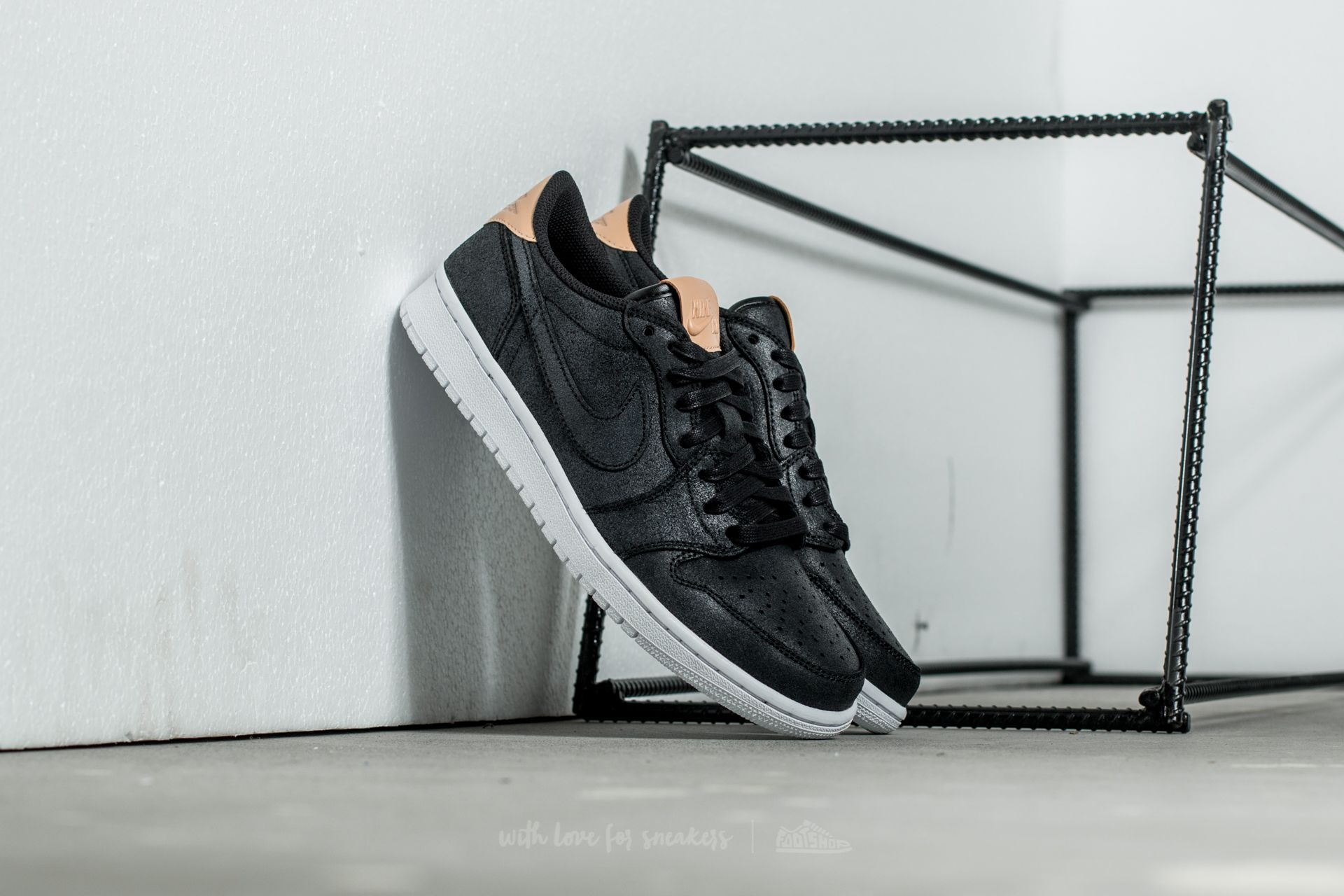 new products c014b 5ad29 Air Jordan 1 Retro Low OG Premium Black/ Vachetta Tan-White ...