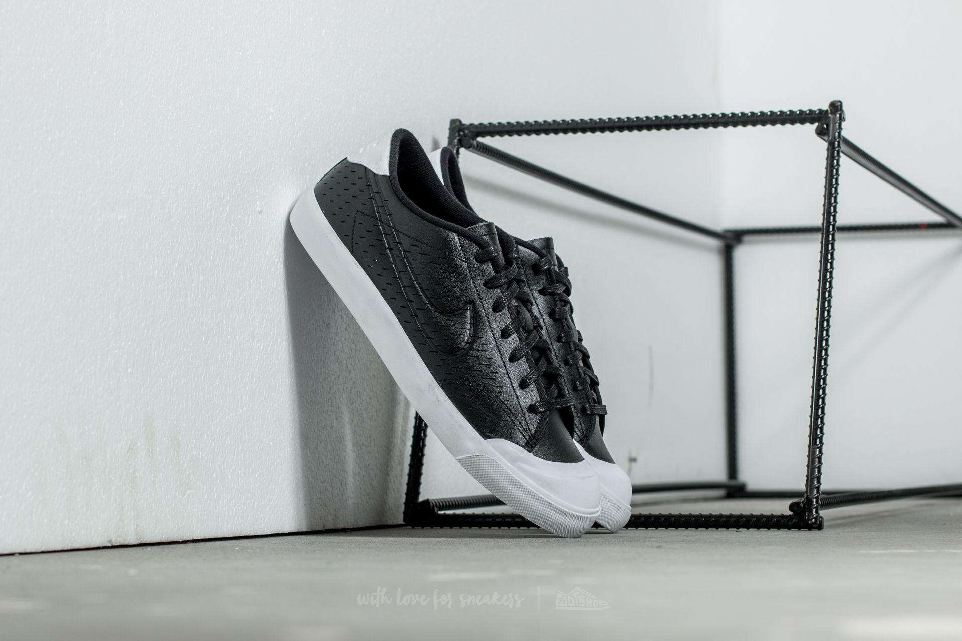 Cerdo gemelo Conejo  Men's shoes Nike All Court 2 Low Leather Black/ Black-White