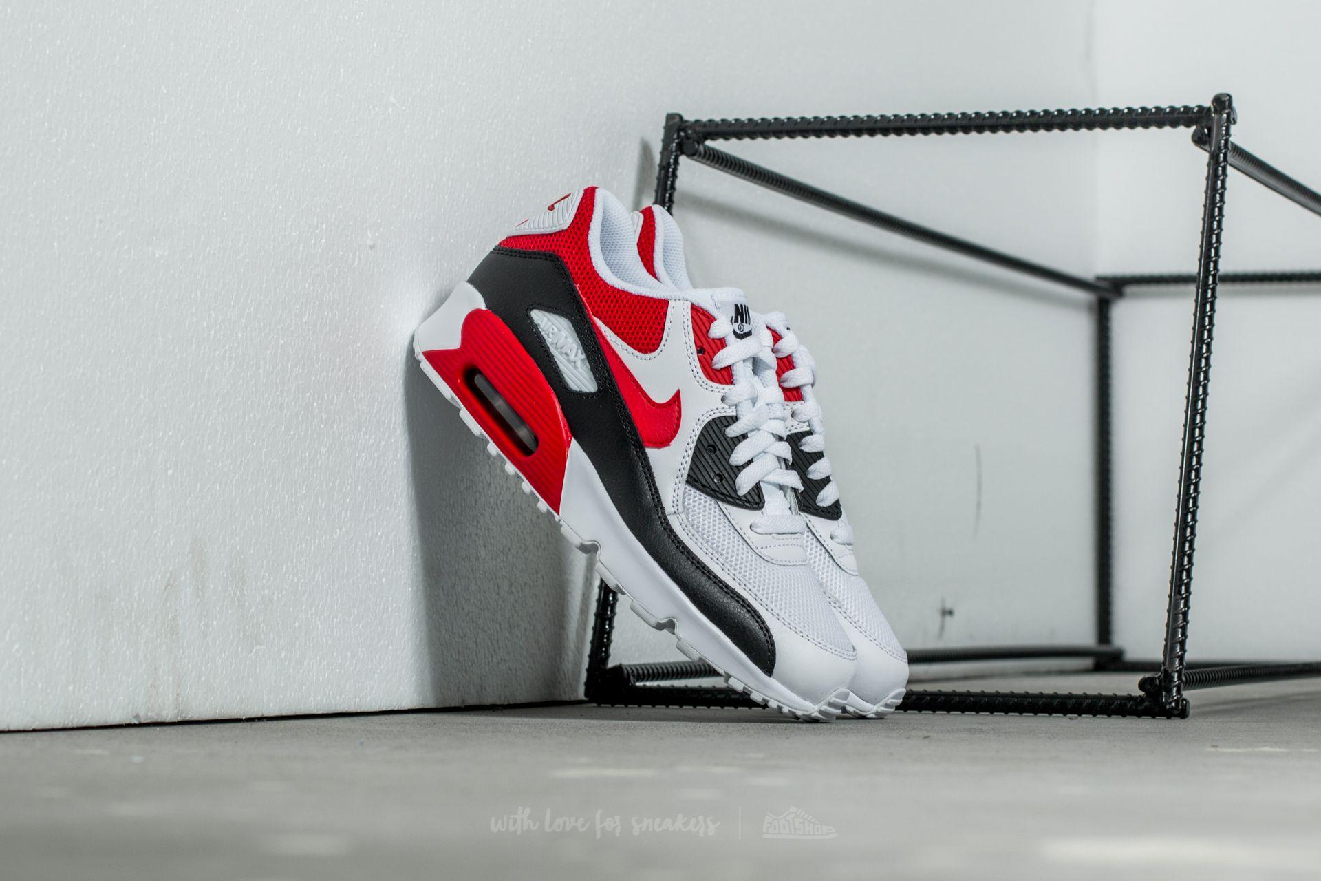227401ccd0b0 Nike Air Max 90 Mesh (GS) White  University Red-Black