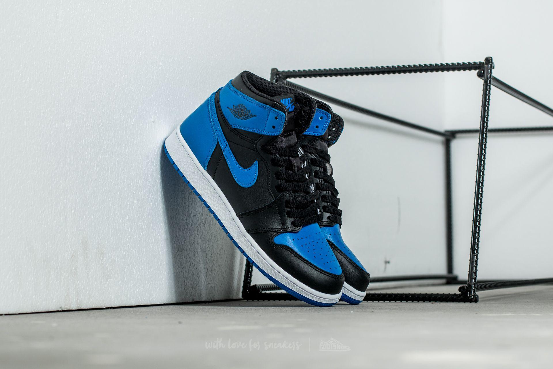 online retailer cbb74 12d4f Air Jordan 1 Retro High OG BG Black/ Royal-White | Footshop