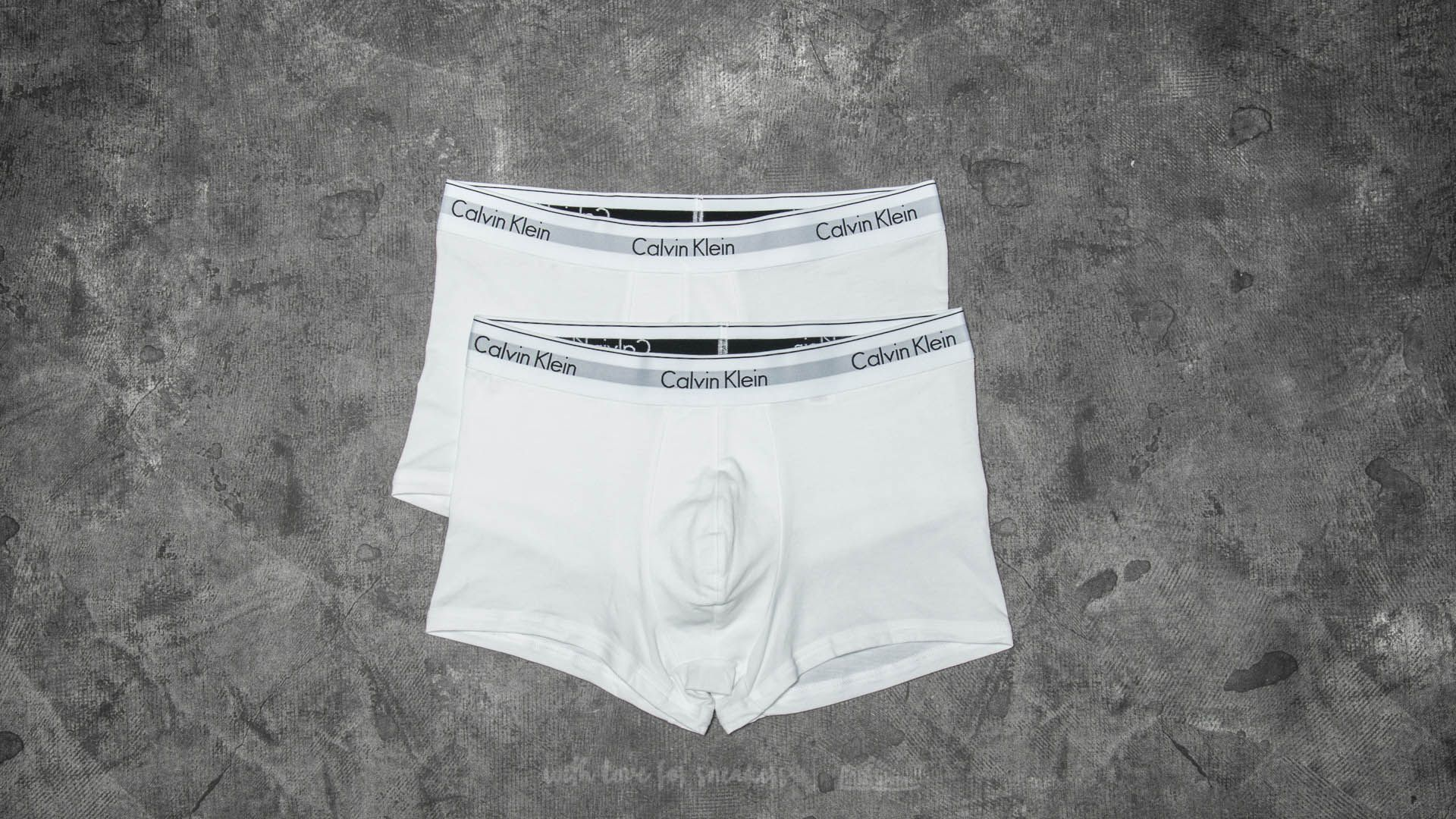 Boxer shorts Calvin Klein Trunks 2 Pack White