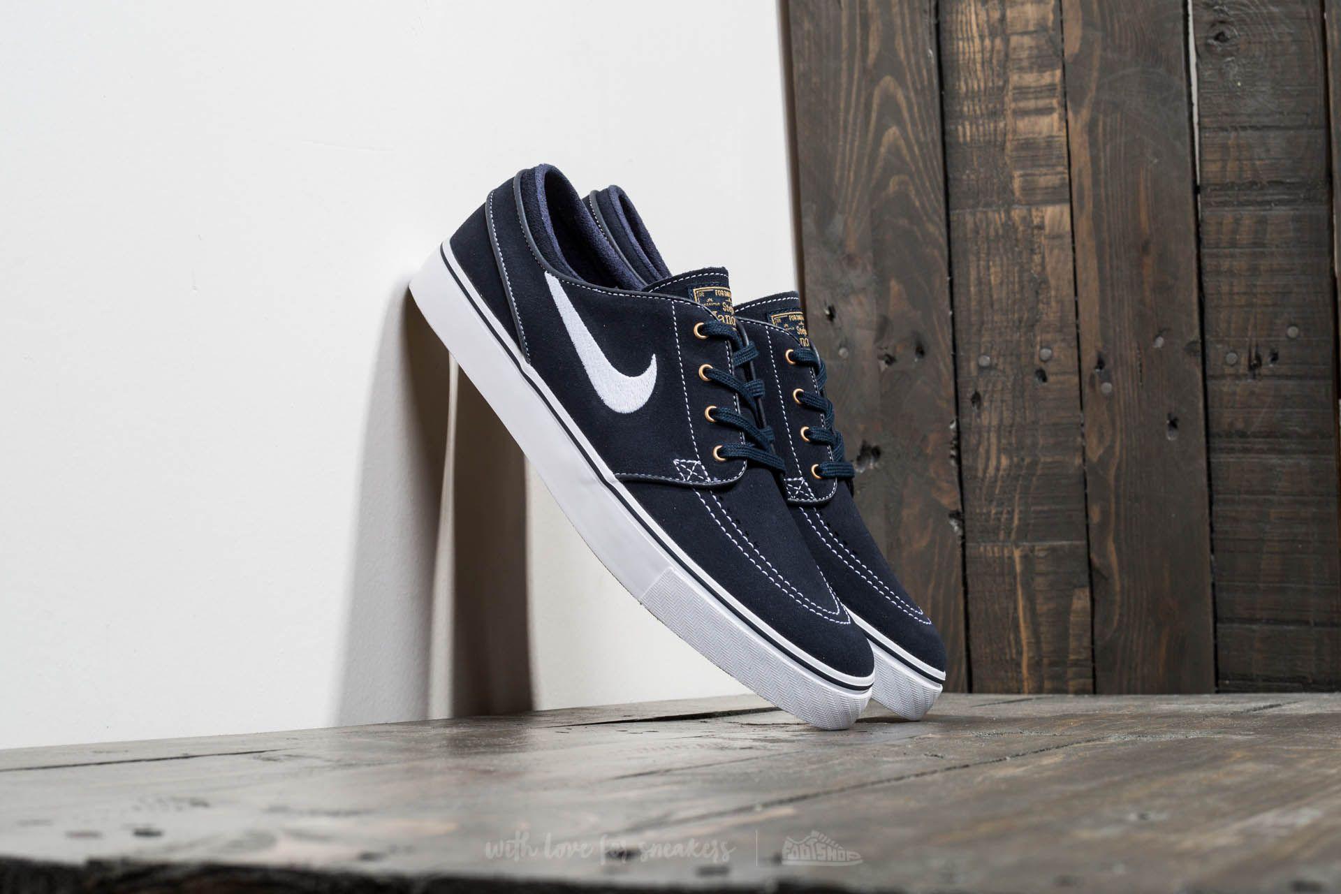 Fangoso Descongelar, descongelar, descongelar heladas Persona responsable  Men's shoes Nike Zoom Stefan Janoski Dark Obsidian/ White-White | Footshop