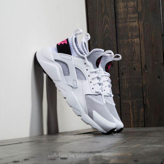 Nike Air Huarache Run Ultra GS White  Black Pink Blast  f61d7c928