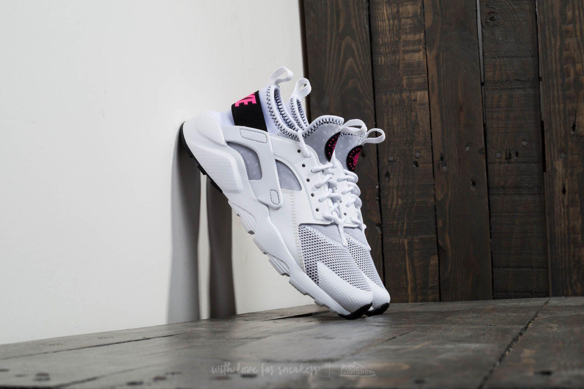 4e1835ba3da75 Nike Air Huarache Run Ultra GS White  Black Pink Blast