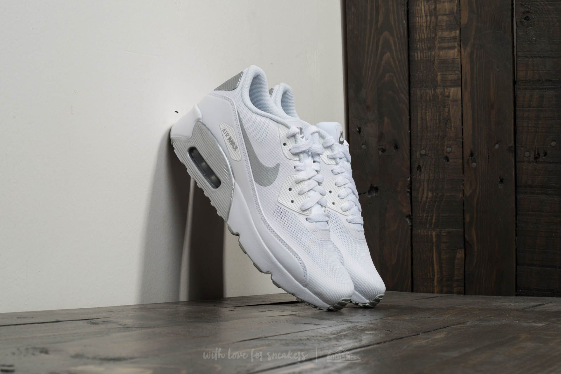 12ed5f6883 Nike Air Max 90 Ultra 2.0 (GS) White/ Metallic Silver | Footshop