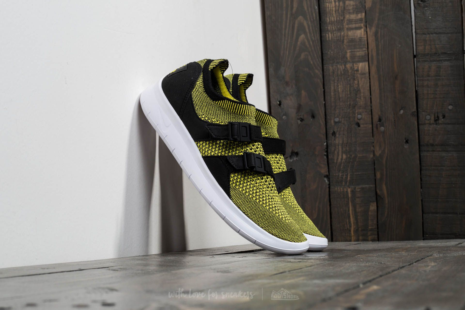 5dbaf9bd27f Nike W Air Sockracer Flyknit Black  White-Yellow Strike at a great price 67