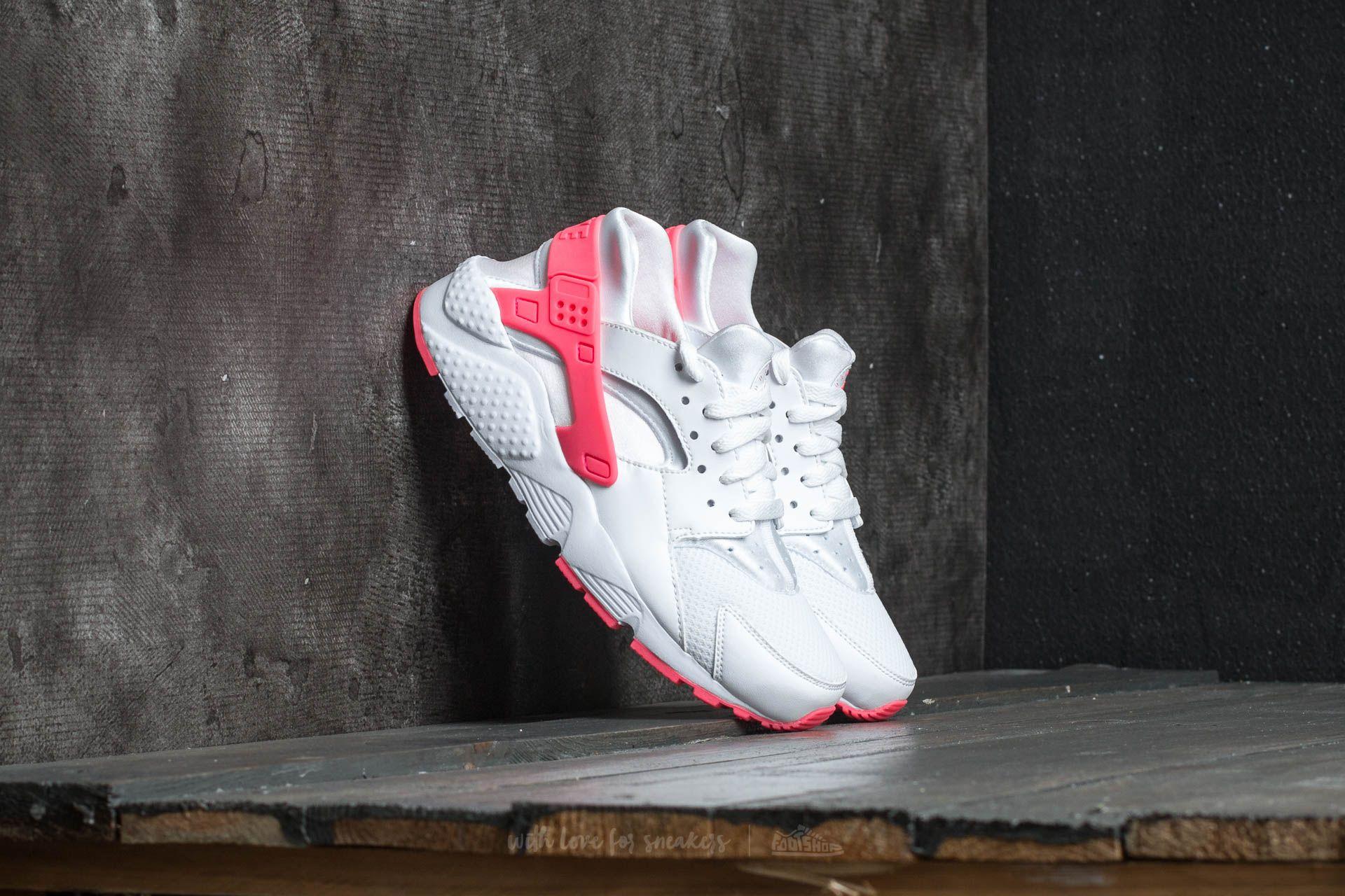 64426d4fc181 Nike Huarache Run (GS) White  Racer Pink