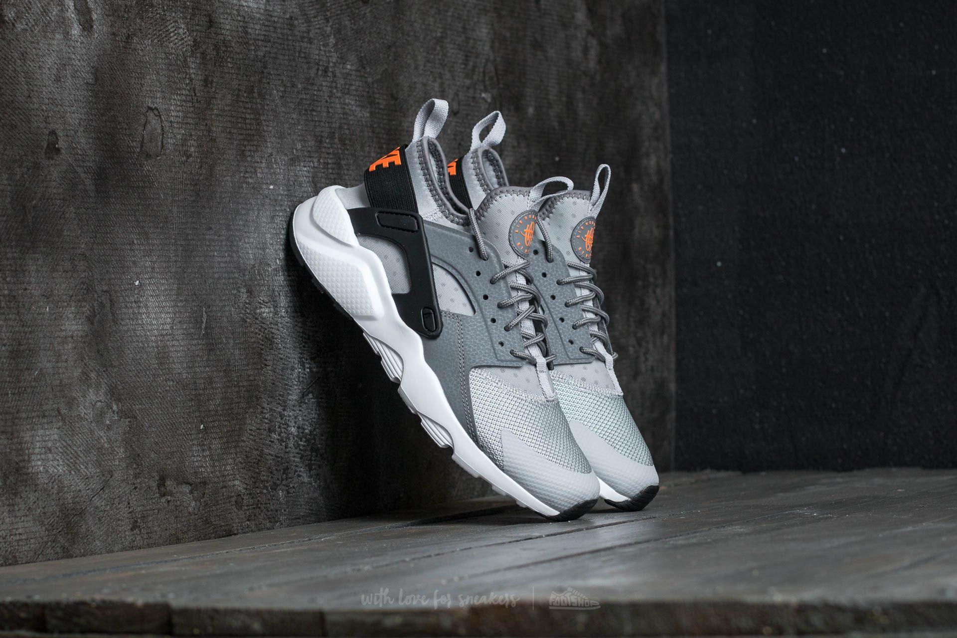 nike air huarache ultra max orange wolf grey anthracite black