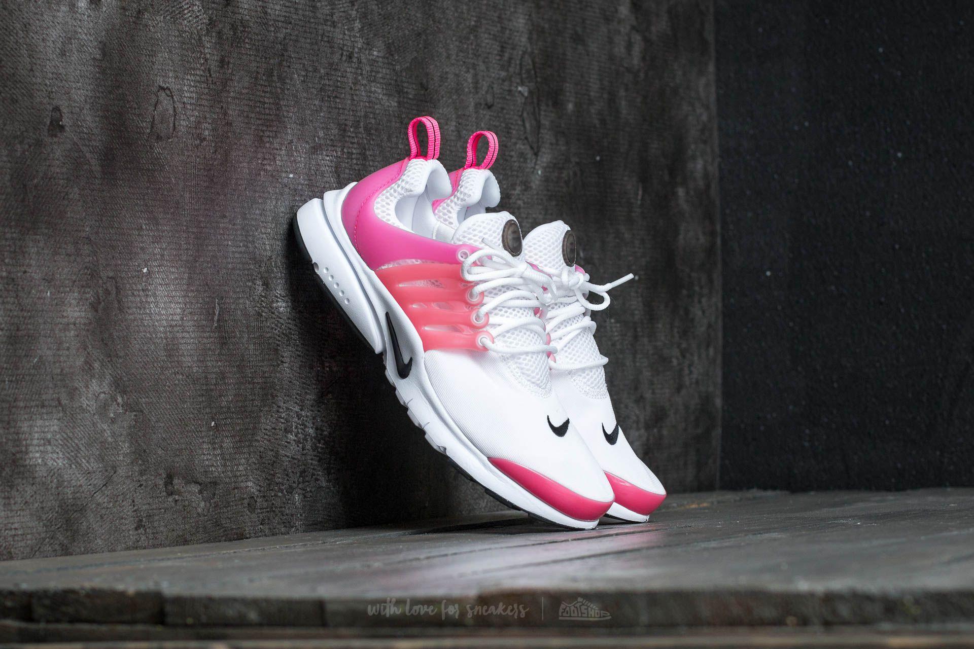 33a1a3642894 Nike Presto (GS) White  Black-Hyper Pink