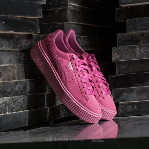 puma platform basket rosa