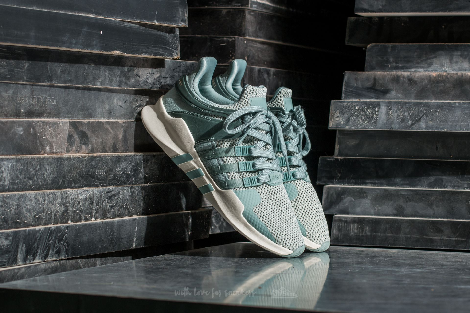 adidas eqt support w tactile green off white
