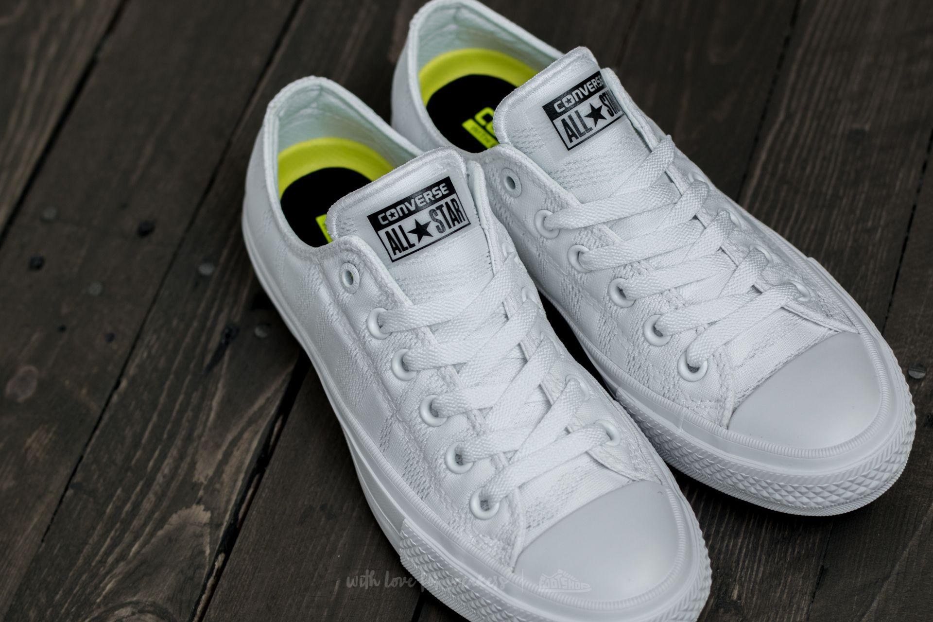 rima Incorrecto Célula somatica  Women's shoes Converse Chuck Taylor All Star II Ox White/ White/ Gum