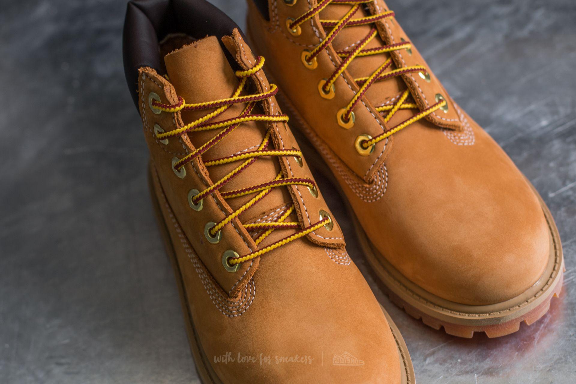 Timberland 6 In Premium Wheat Nubuc Yellow au meilleur prix 117 € Achetez  sur Footshop 591fbe14fea