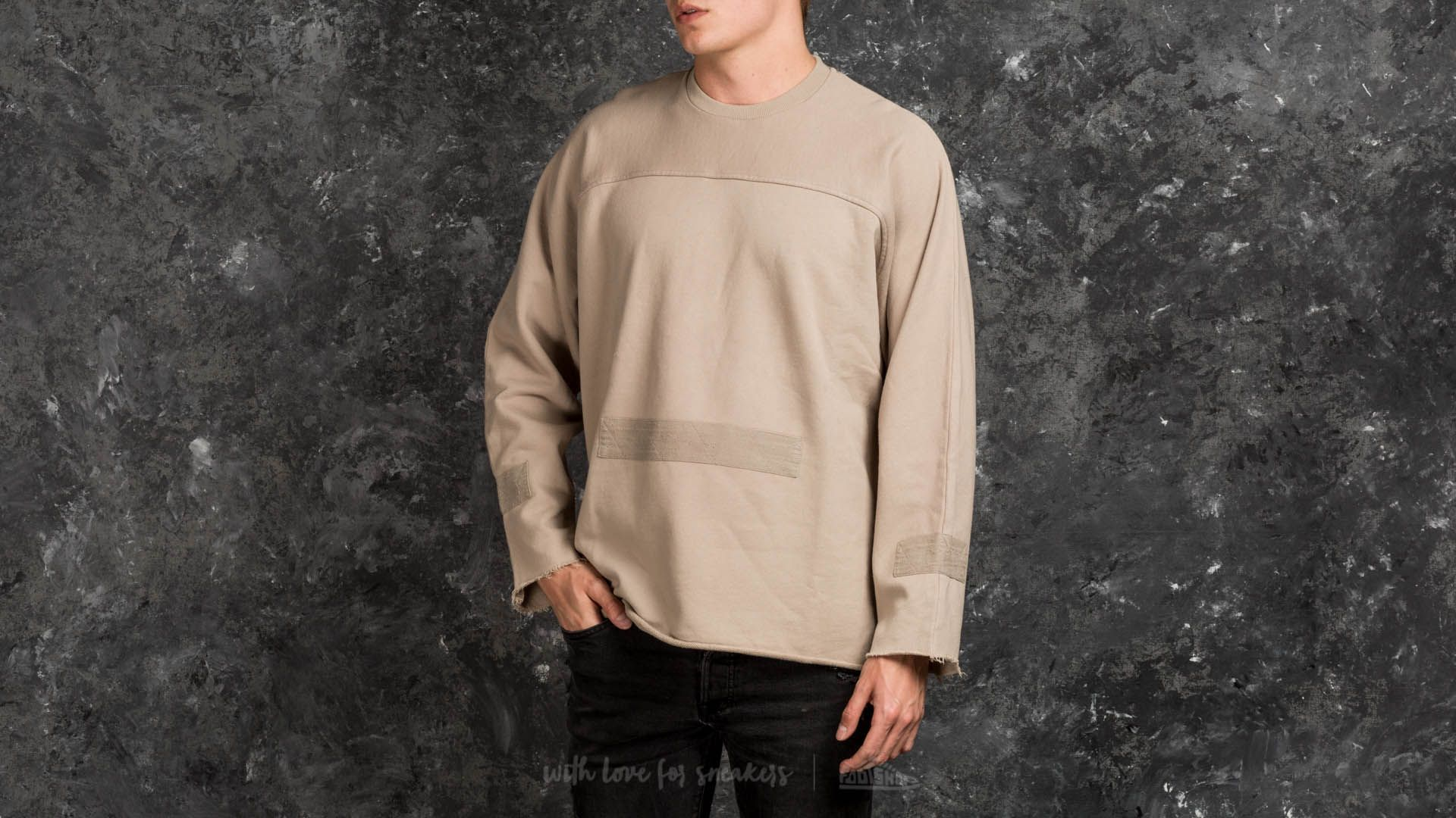 STAMPD Washed Down Longsleeve Crew Taupe