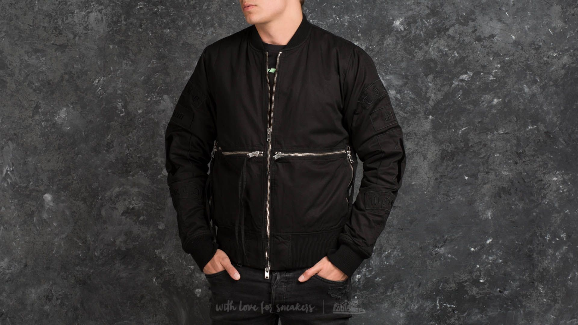 STAMPD Time and 1 World Bomber Black