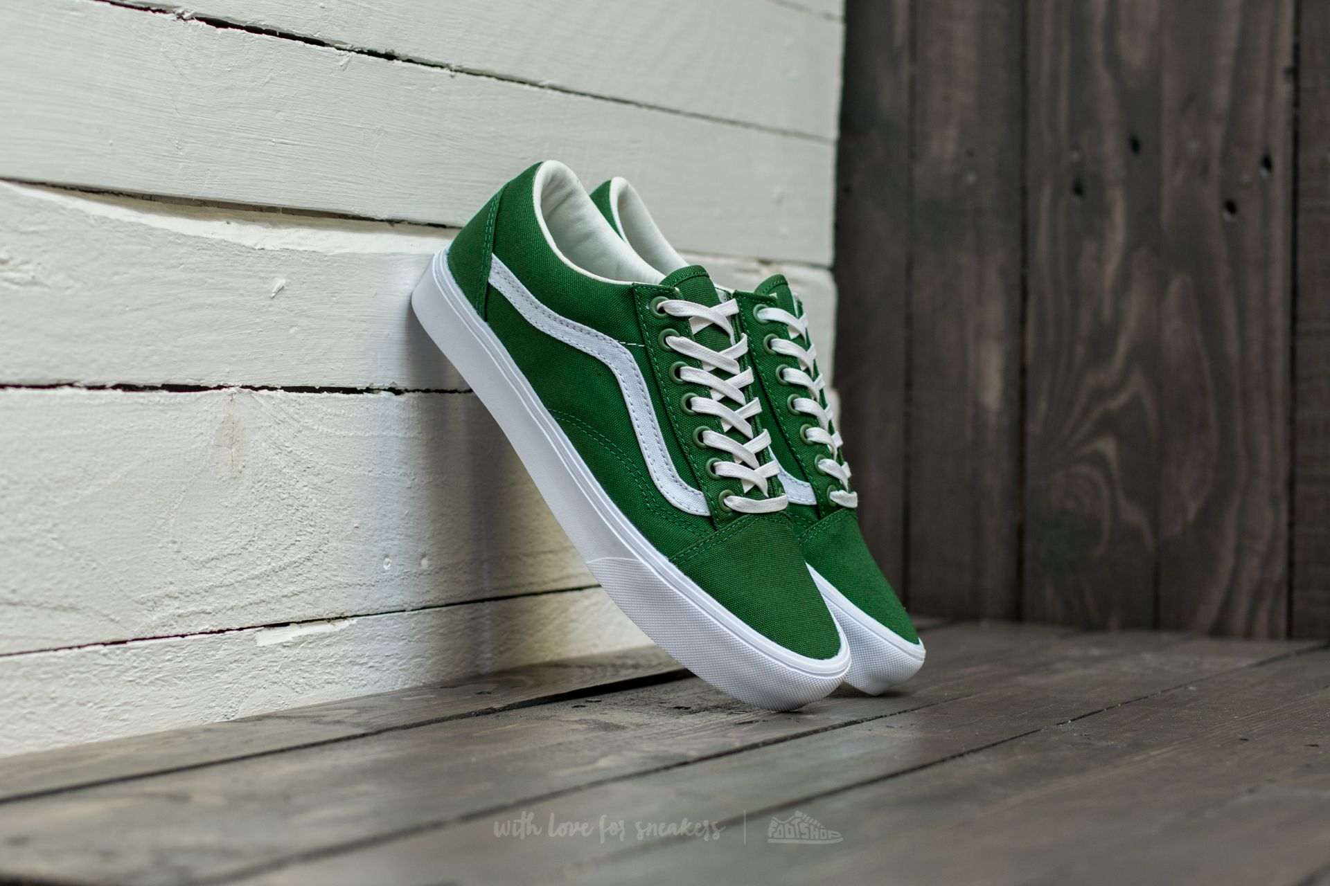 Vans Old Skool Lite (Canvas) Juniper True White | Footshop