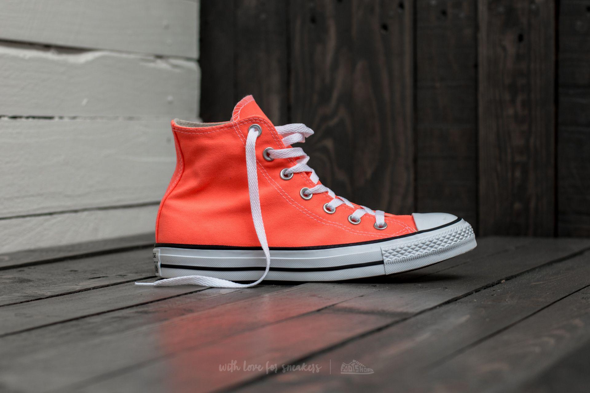 Womens Converse Converse All Star Hi Trainers Hyper Orange