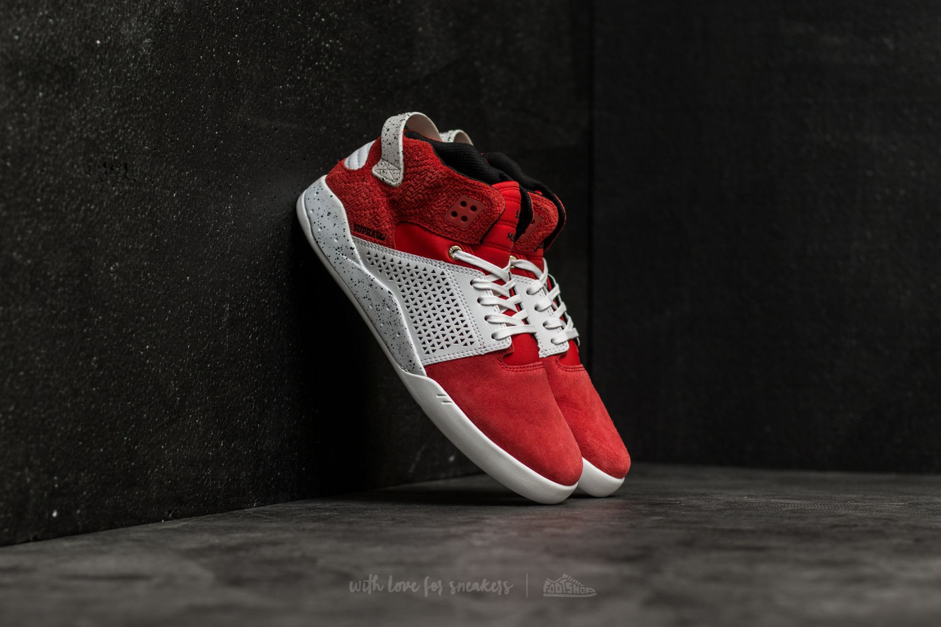 Supra Skytop III Red-White Speckle  597581135