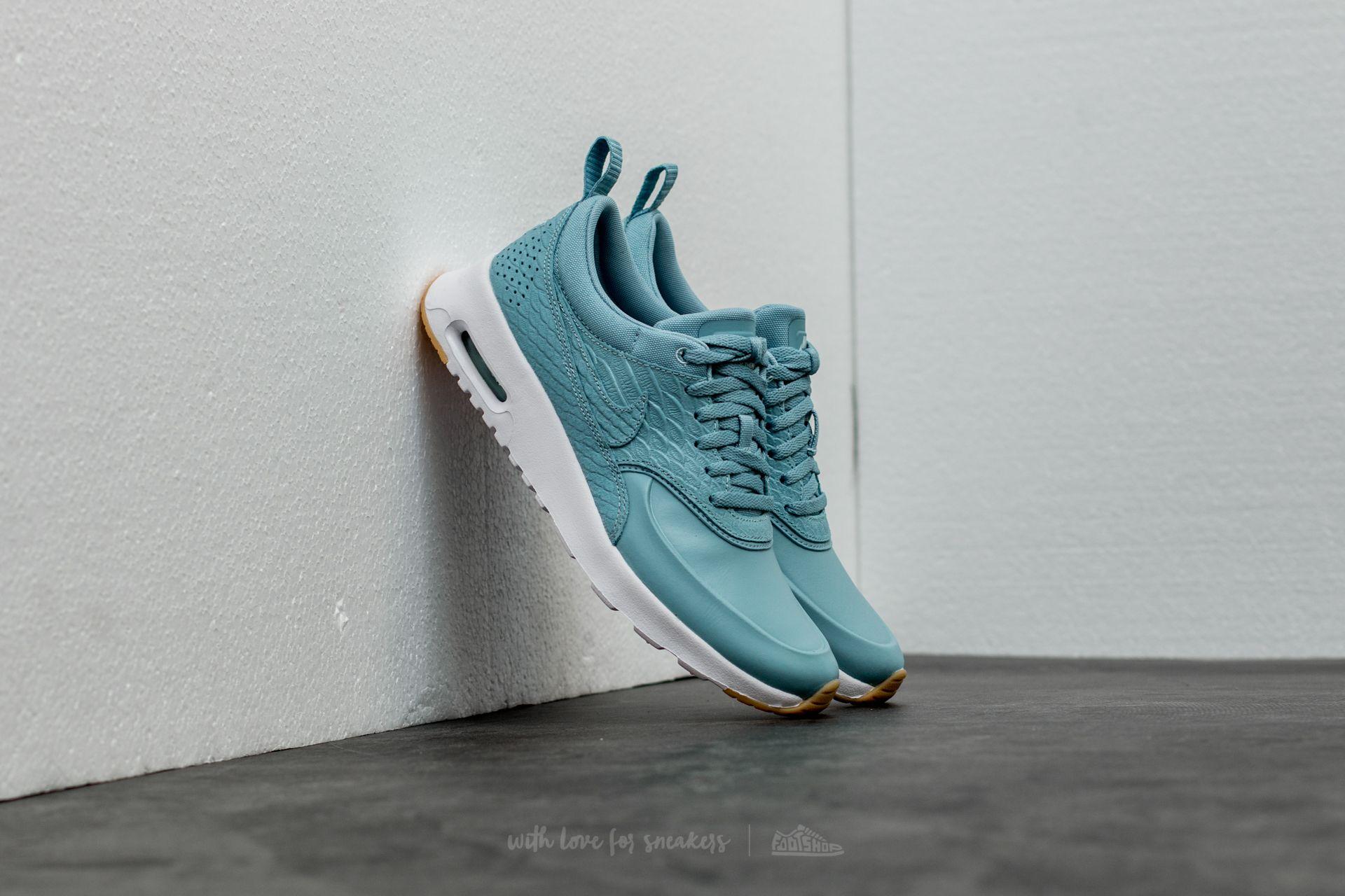 5007a6058f46a Wmns Nike Air Max Thea Premium Mica Blue/ Mica Blue-Gum Yellow ...