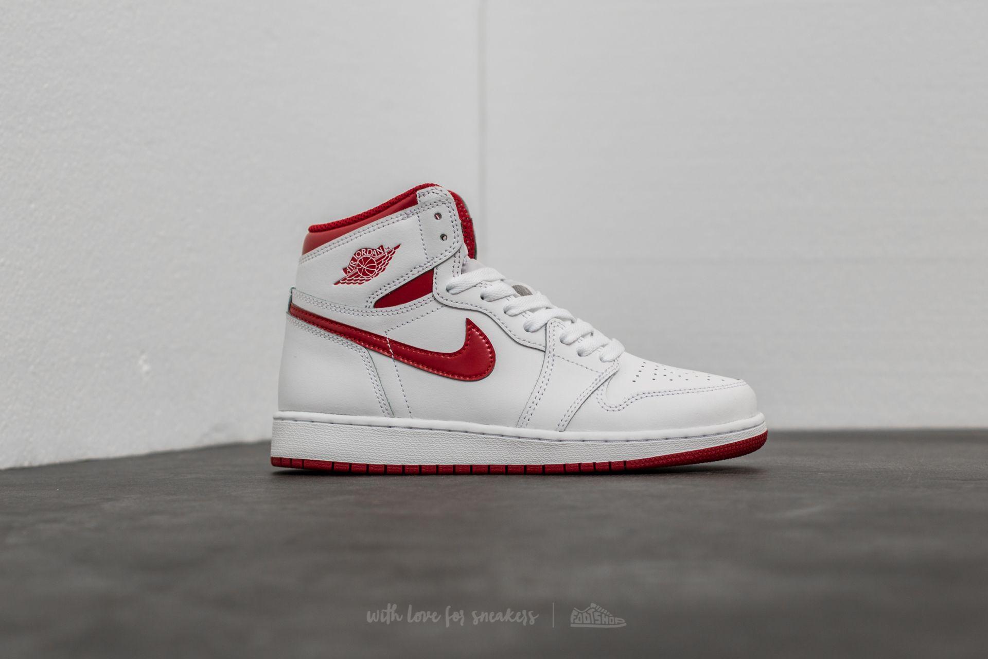 Red' Red Jordan Retro Og 1 High Air Varsity Bg 'metallic White 5Aq3R4jL