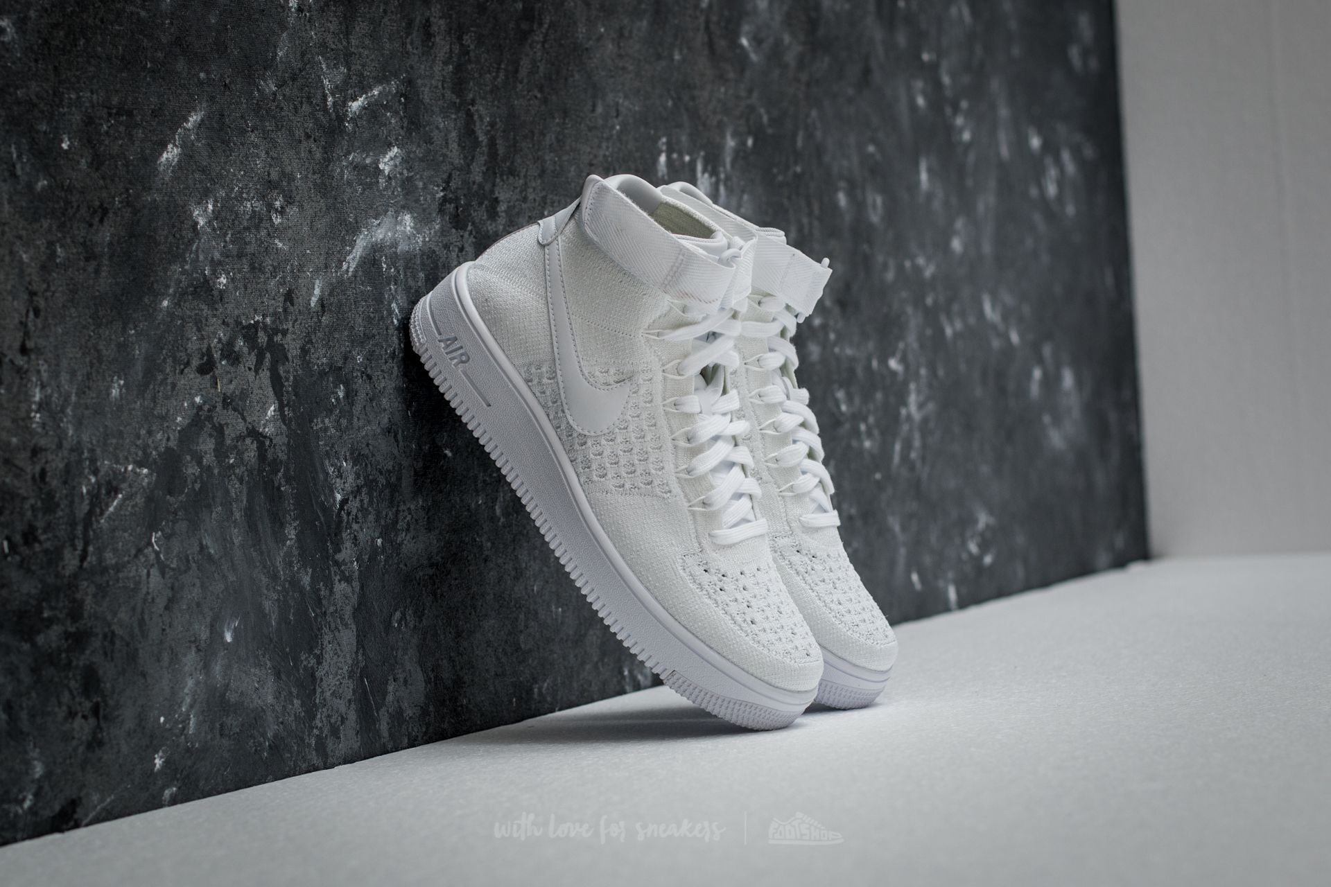 Nike Air Force 1 Ultra Flyknit Mid White  White-White  5b44f7b5bacf
